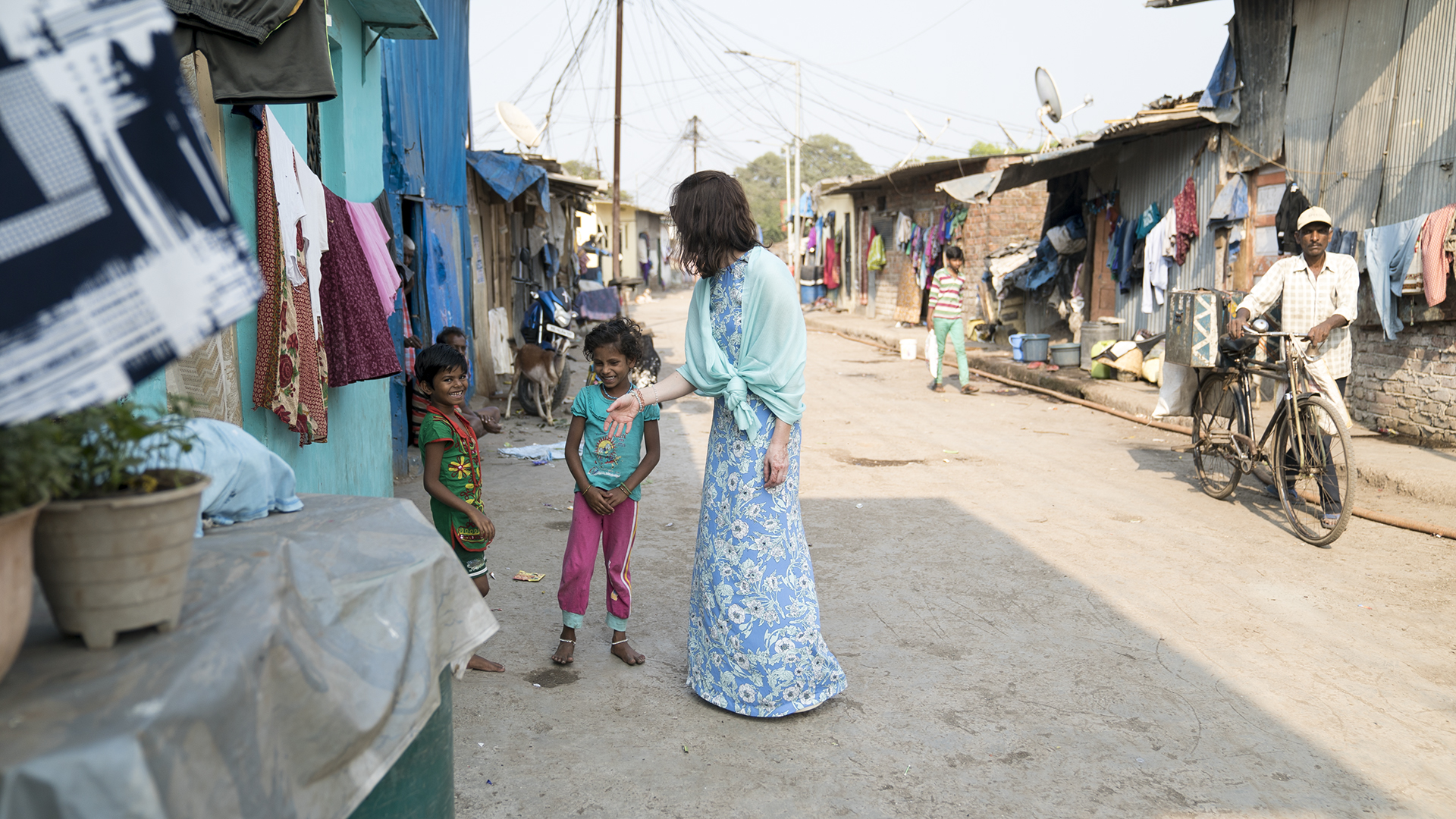 Lisa in Kalwa, one of Vision Rescue's community centers