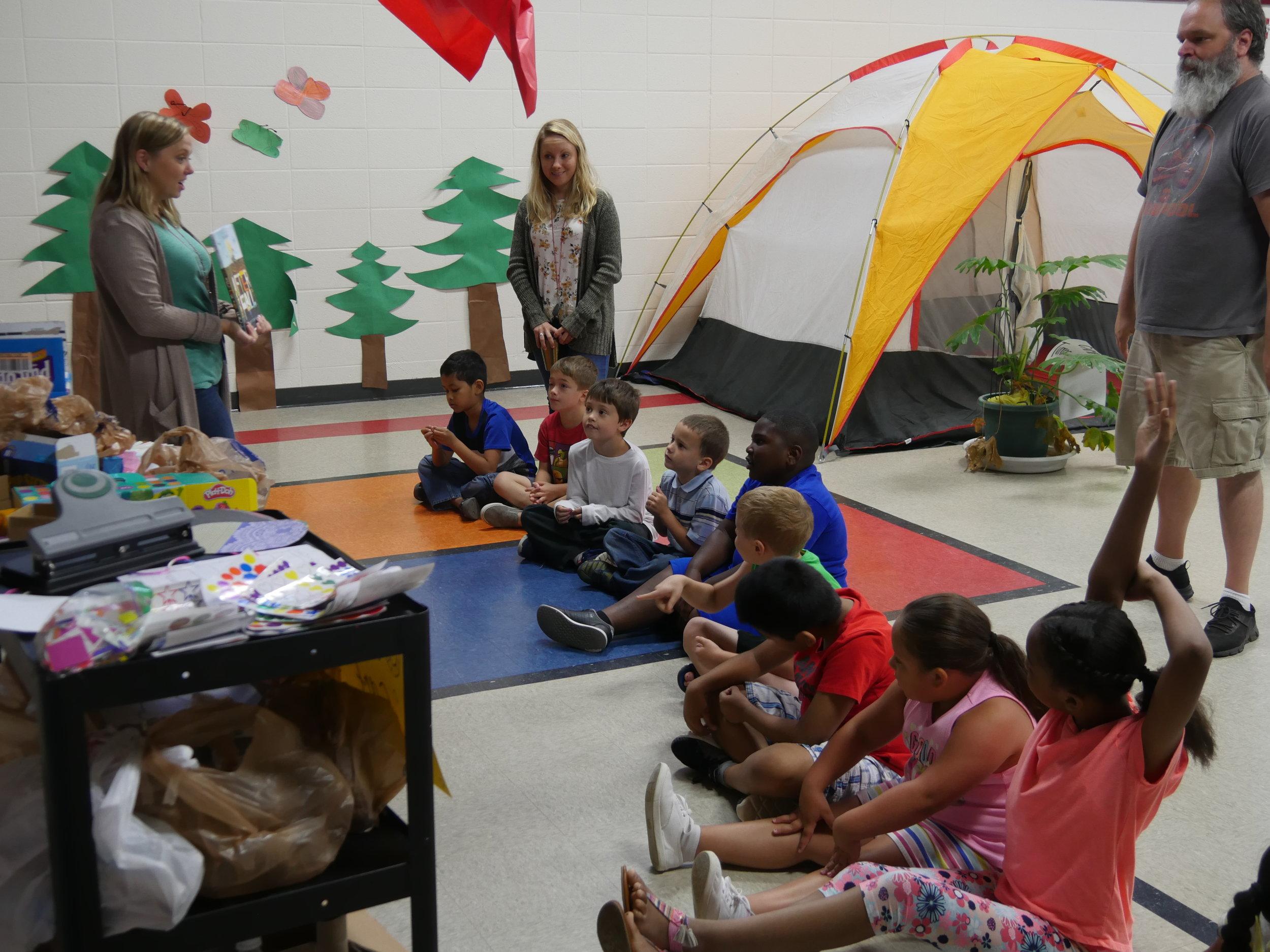 Jere Baxter Students at summer camp