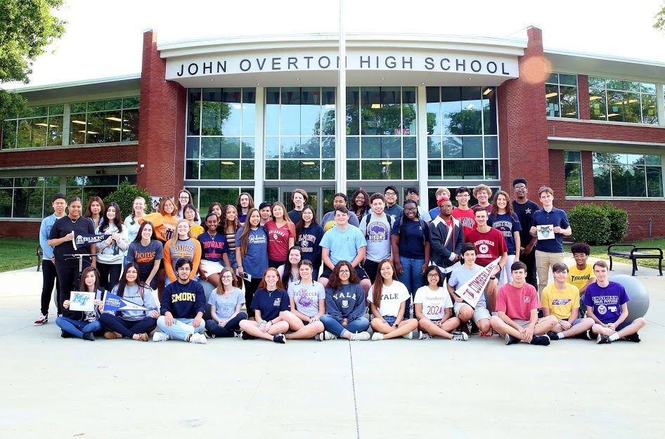 Overton High School Cambridge Program seniors