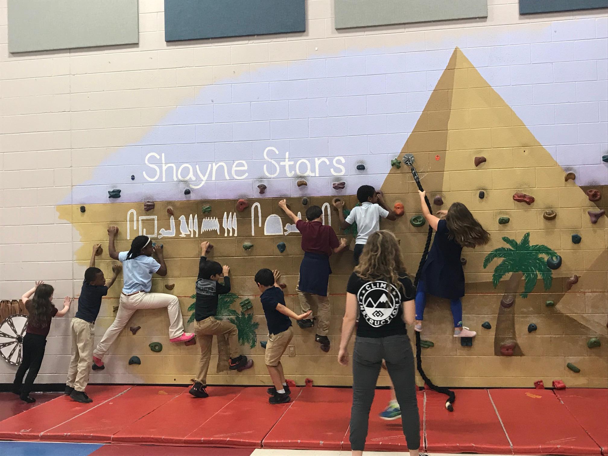 Shayne  students with Climb Nashville