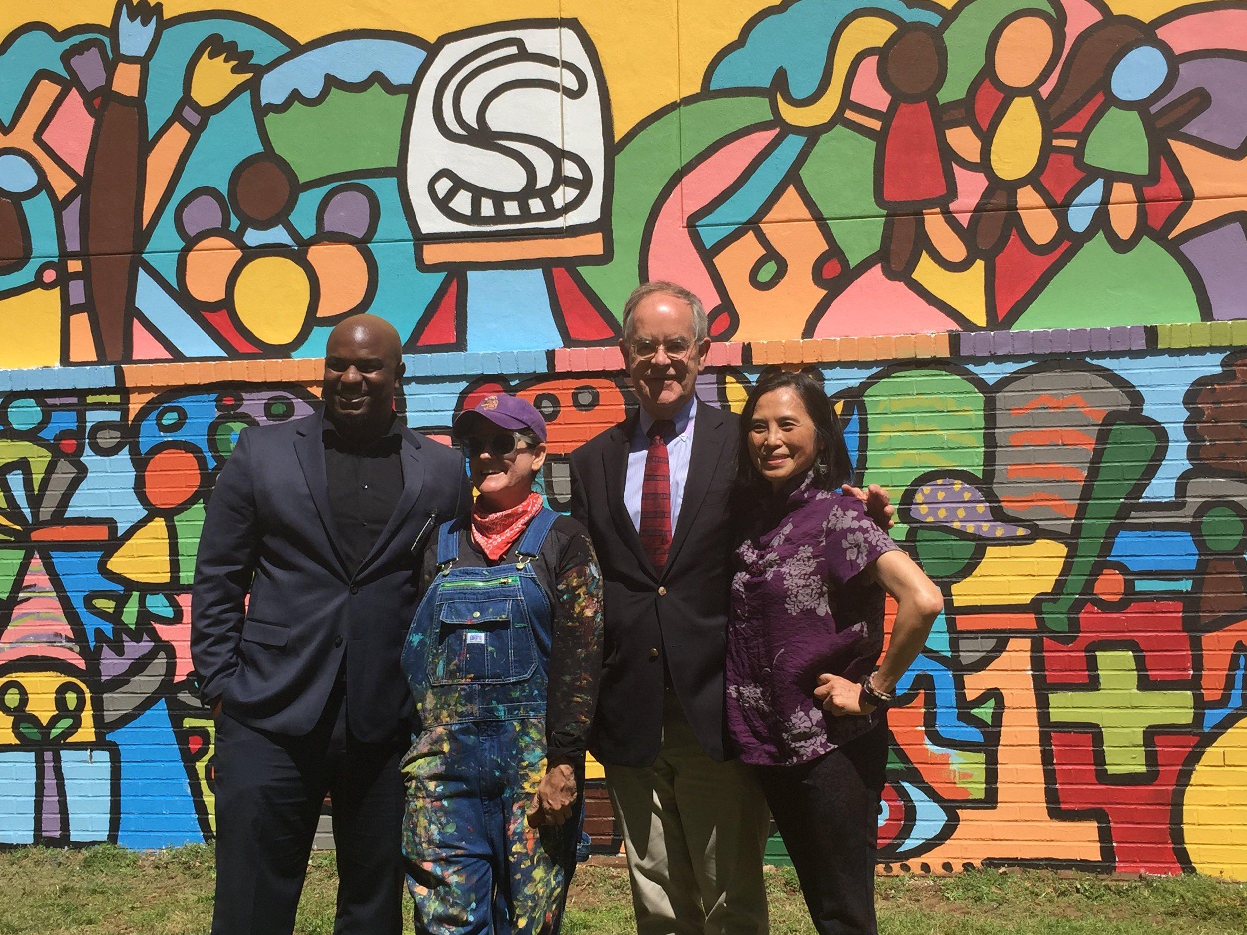 Warner Elementary's student mural