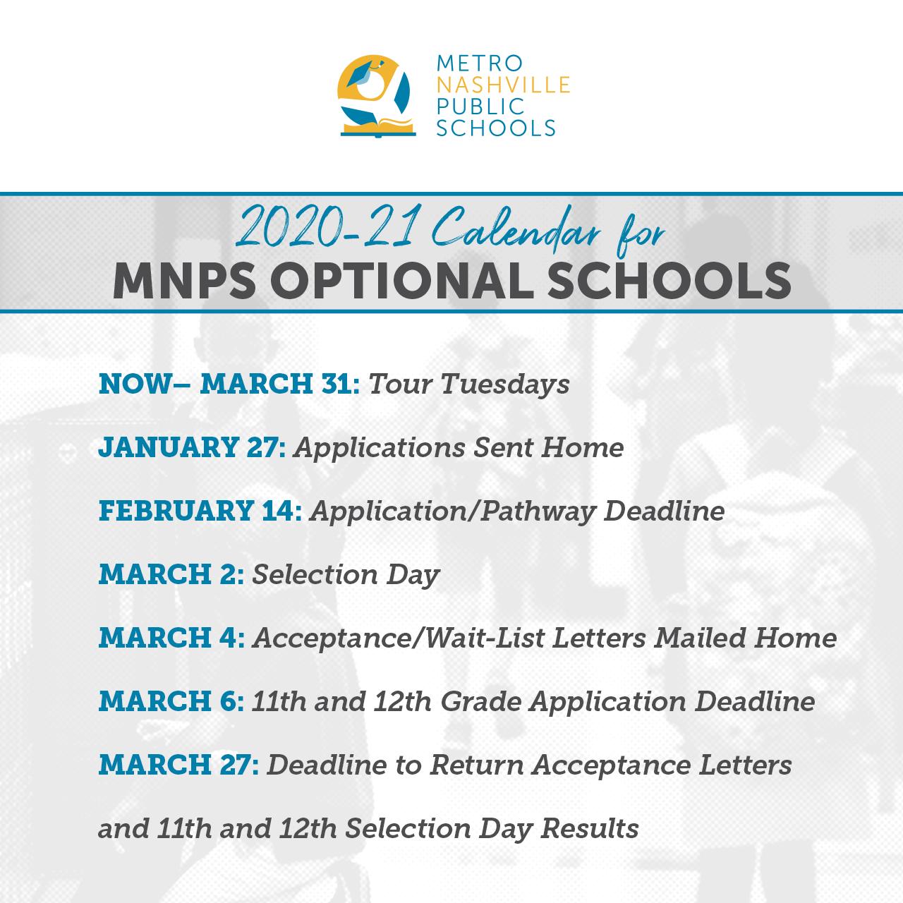 Mnps 2021-2022 Calendar Photos