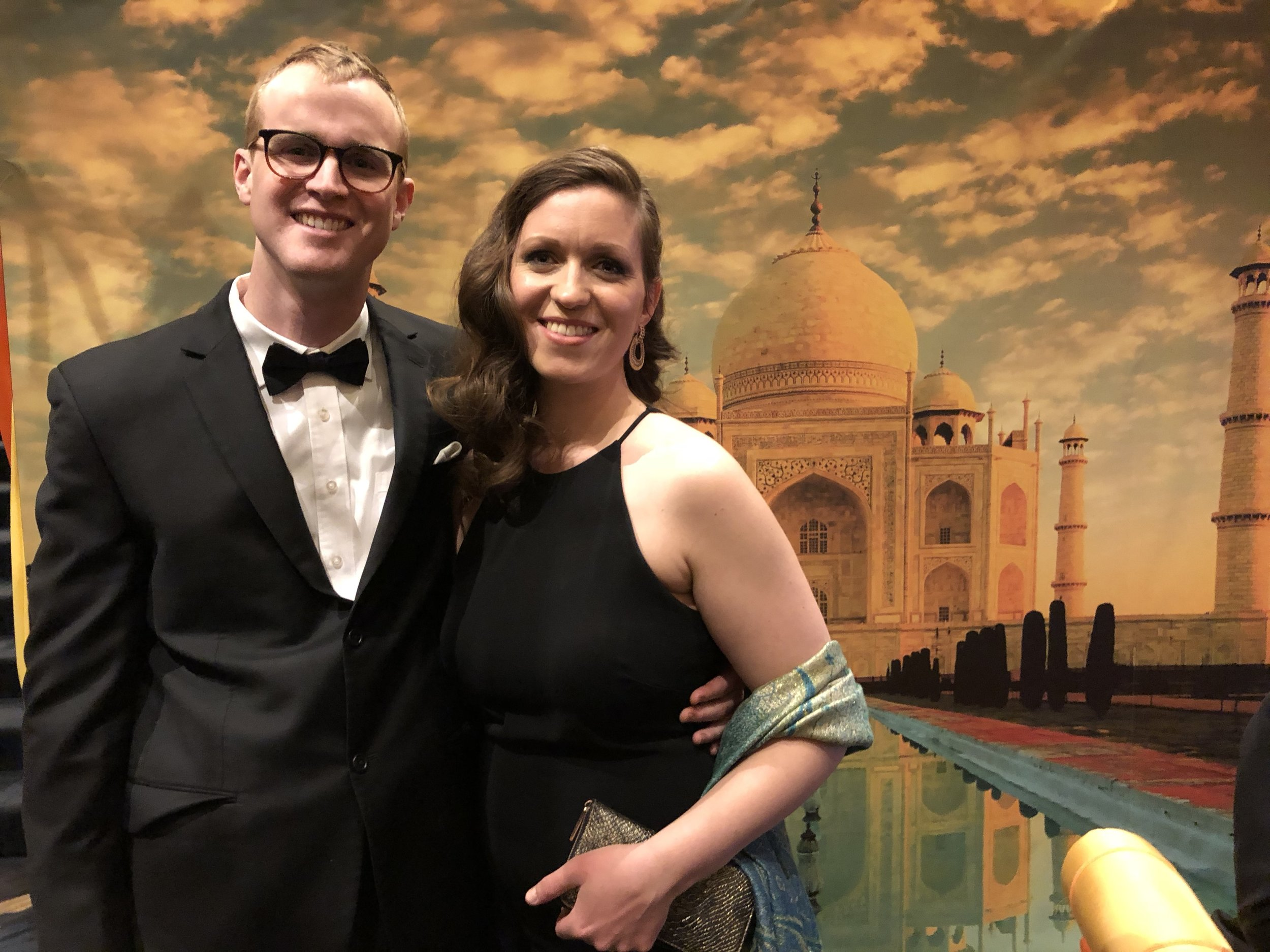 Ina & Will looking snazzy at the Black Diamond Ball -