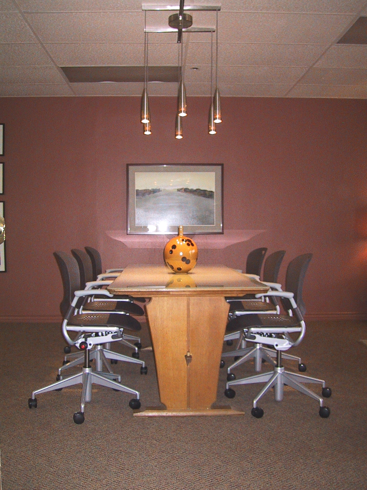 herman miller, contemporary office, antique farm table,