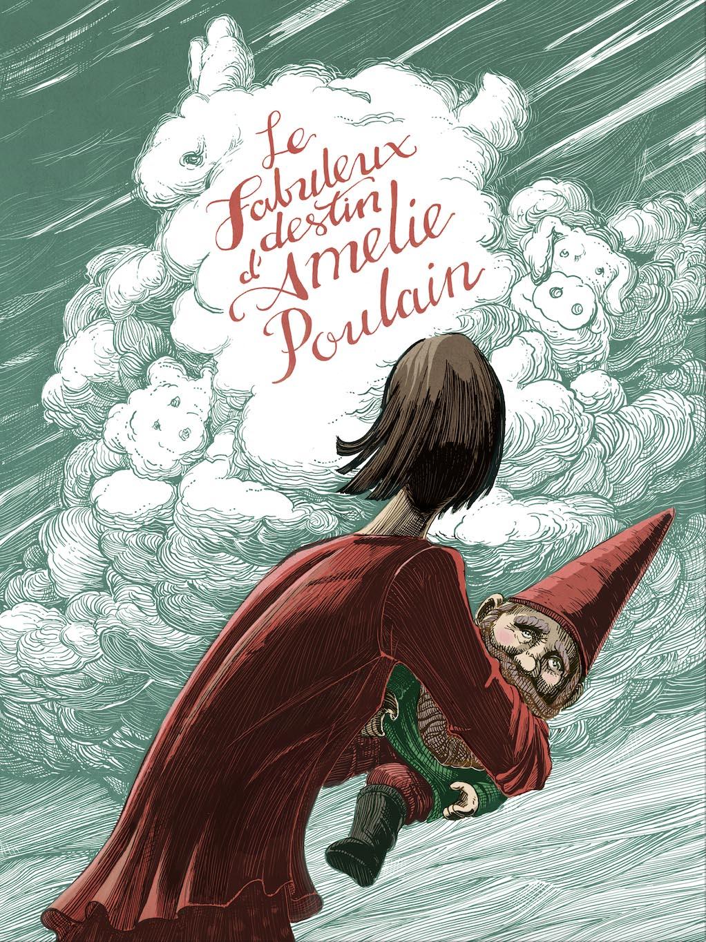 """Amelie Poulain"" - Scratchboard and digital color"