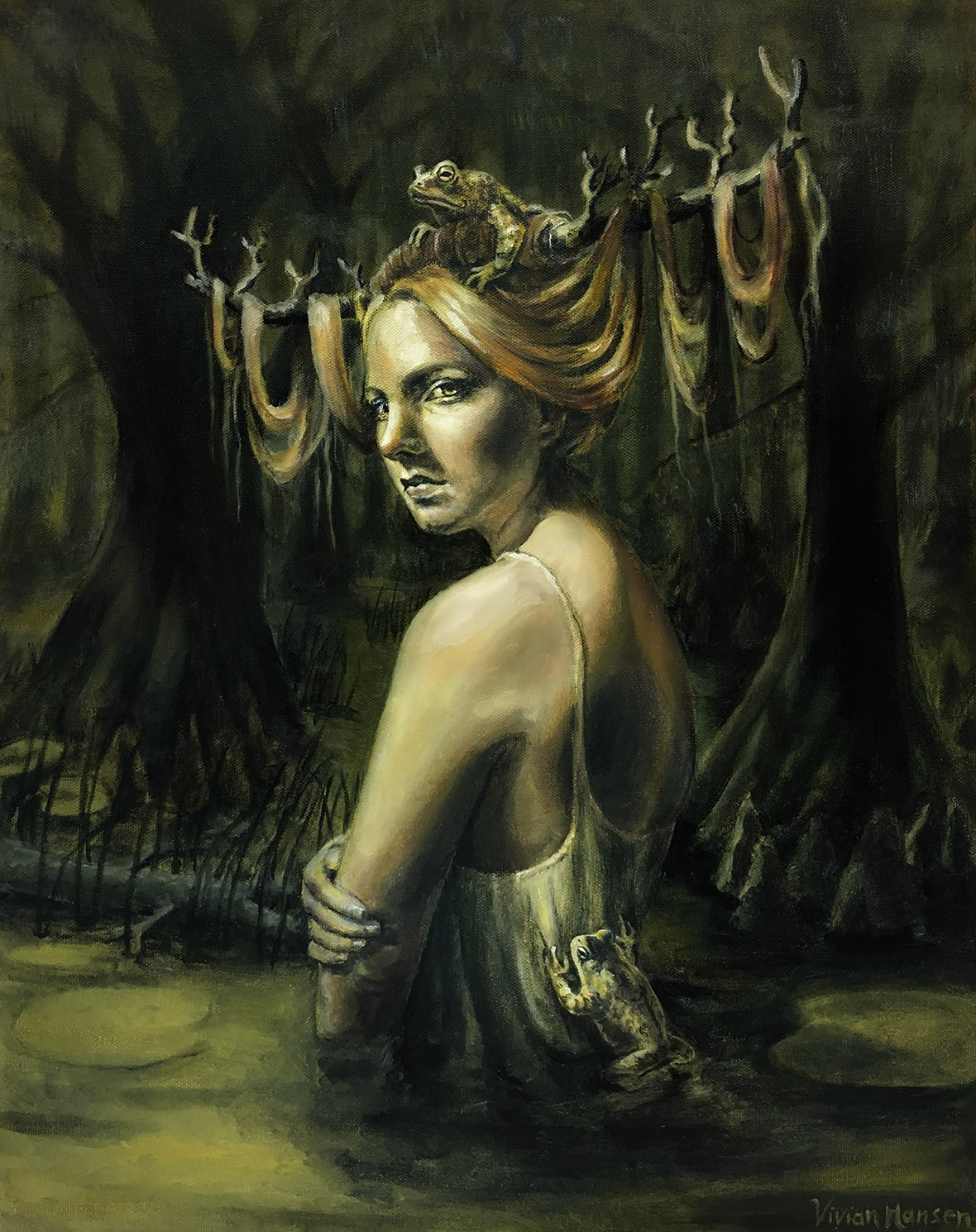 """""""She of the swamp"""" - Oil on canvas"""
