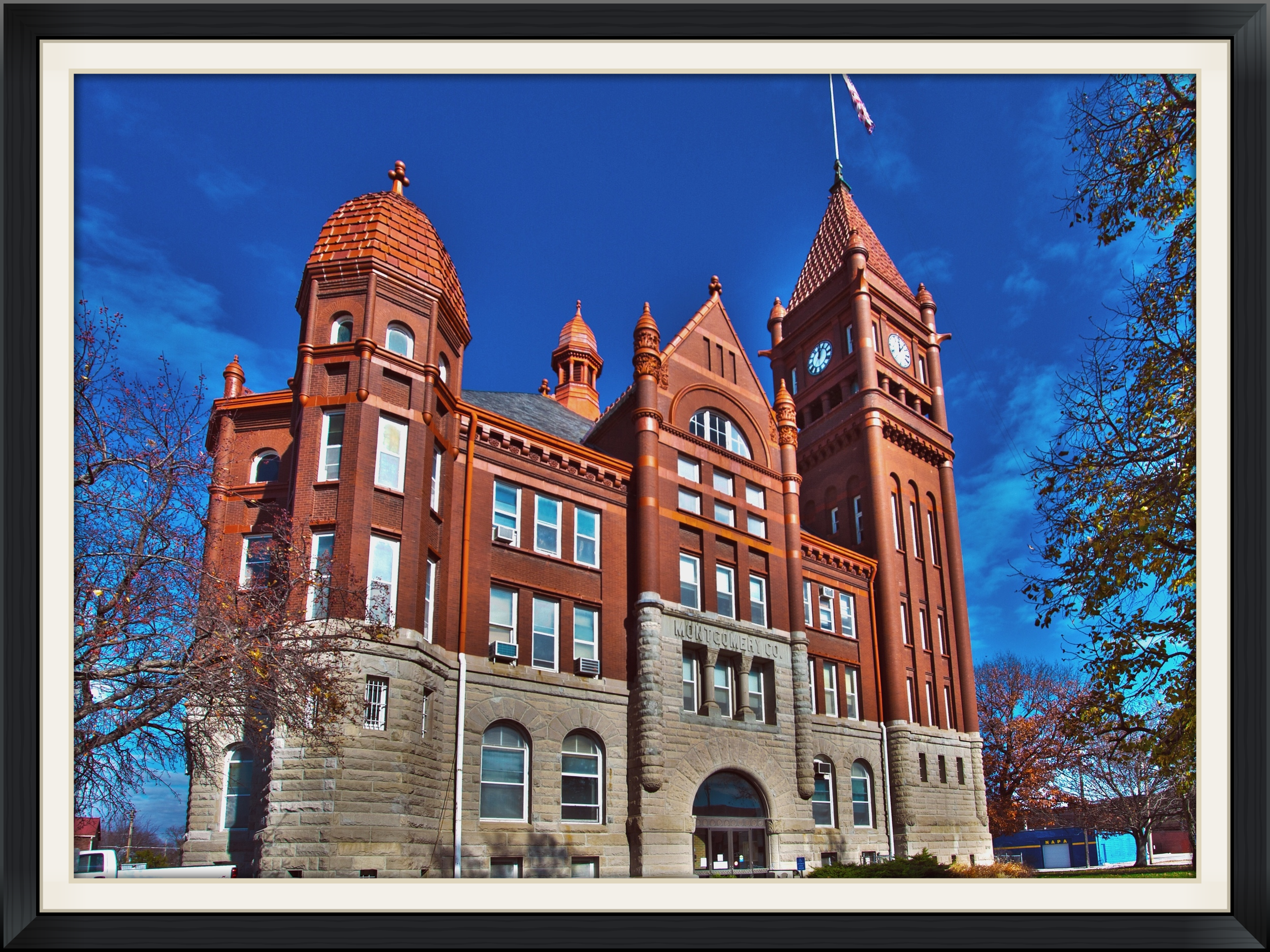 We are located 1/2 block east of the Montgomery County courthouse on Coolbaugh Street in Red Oak, Iowa.