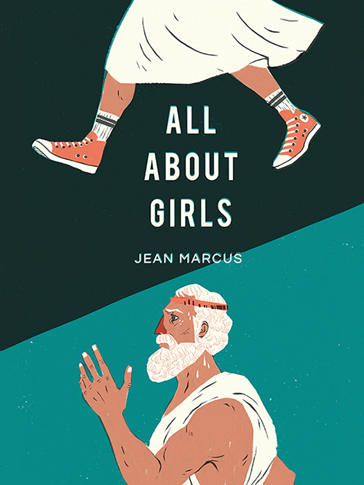 ALL ABOUT GIRLS by Jean Marcus Book cover art by Flo Minowa