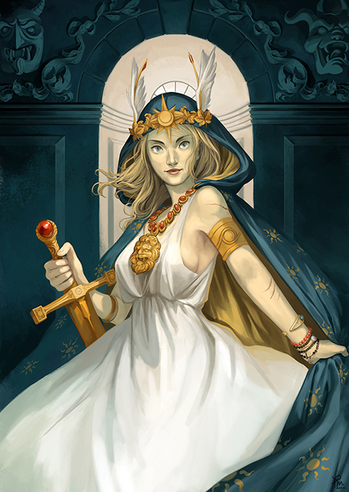 "QUEEN LURIS FROM ""PROJECT EPIC"" by Roberto Cordova Illustration by Flo Minowa for A SOUL AND A WINDOW Series"
