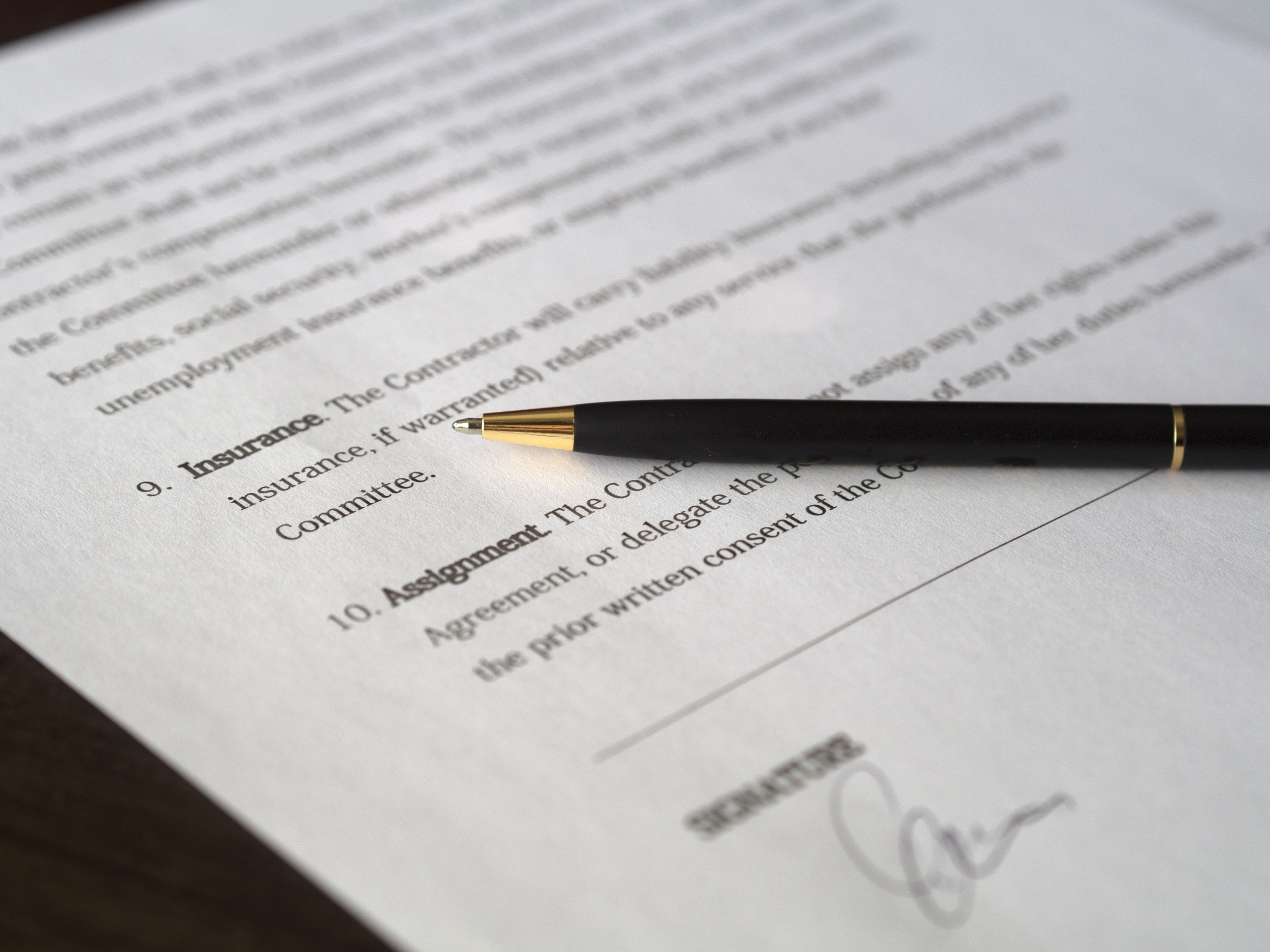 Photo of Business Contract