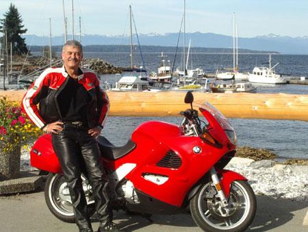 Stewart with a BMW at Lund BC
