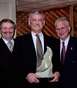 Receiving tourism Victoria's Miracle award from Chair Ian Powell & CEO Lorne Whyte