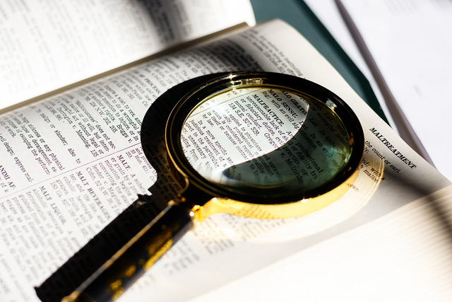 """ Malpractice Definition Dictionary Magnifying Glass "" by  Allen Allen  /  CC BY 2.0"