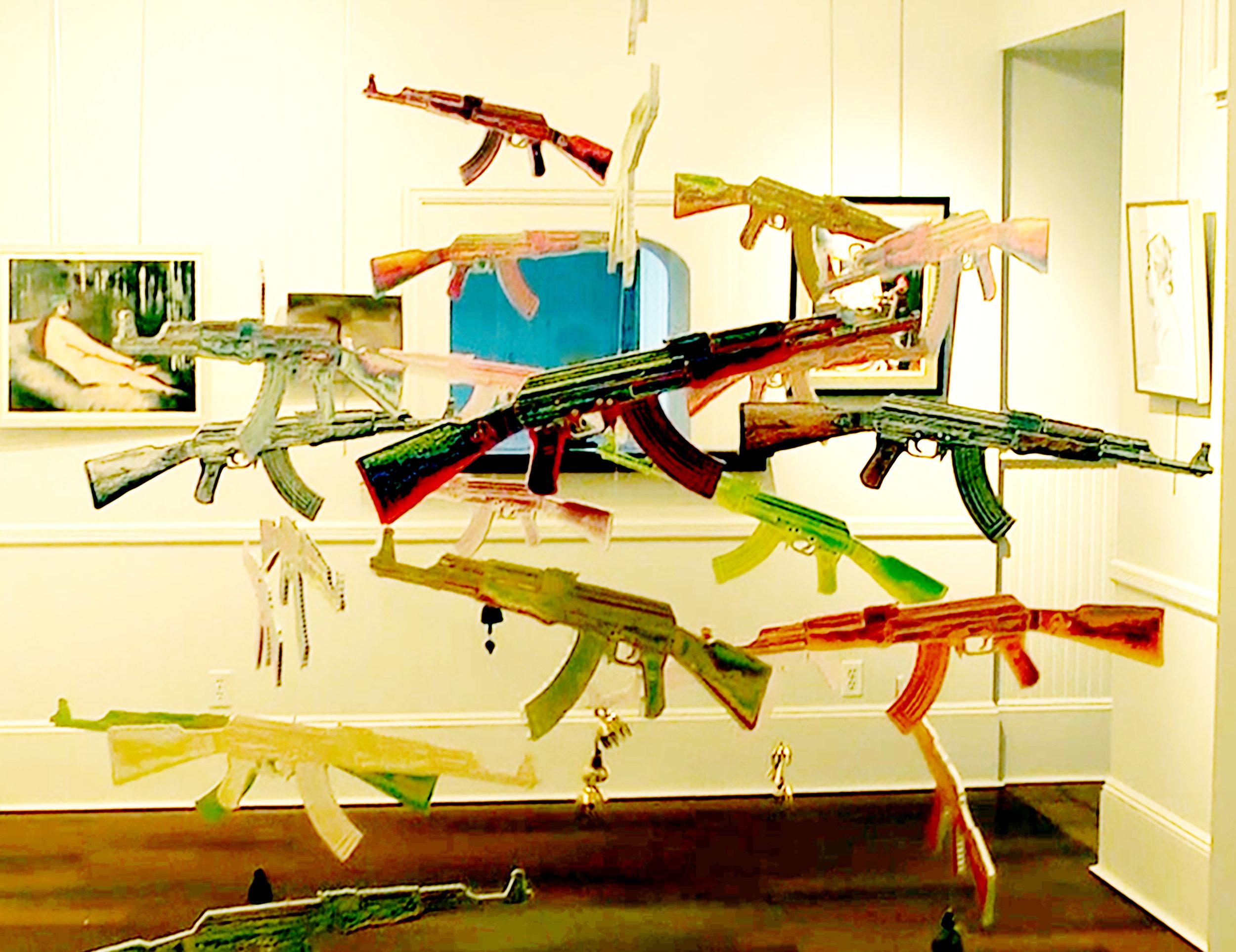 AK 47 Sculpture