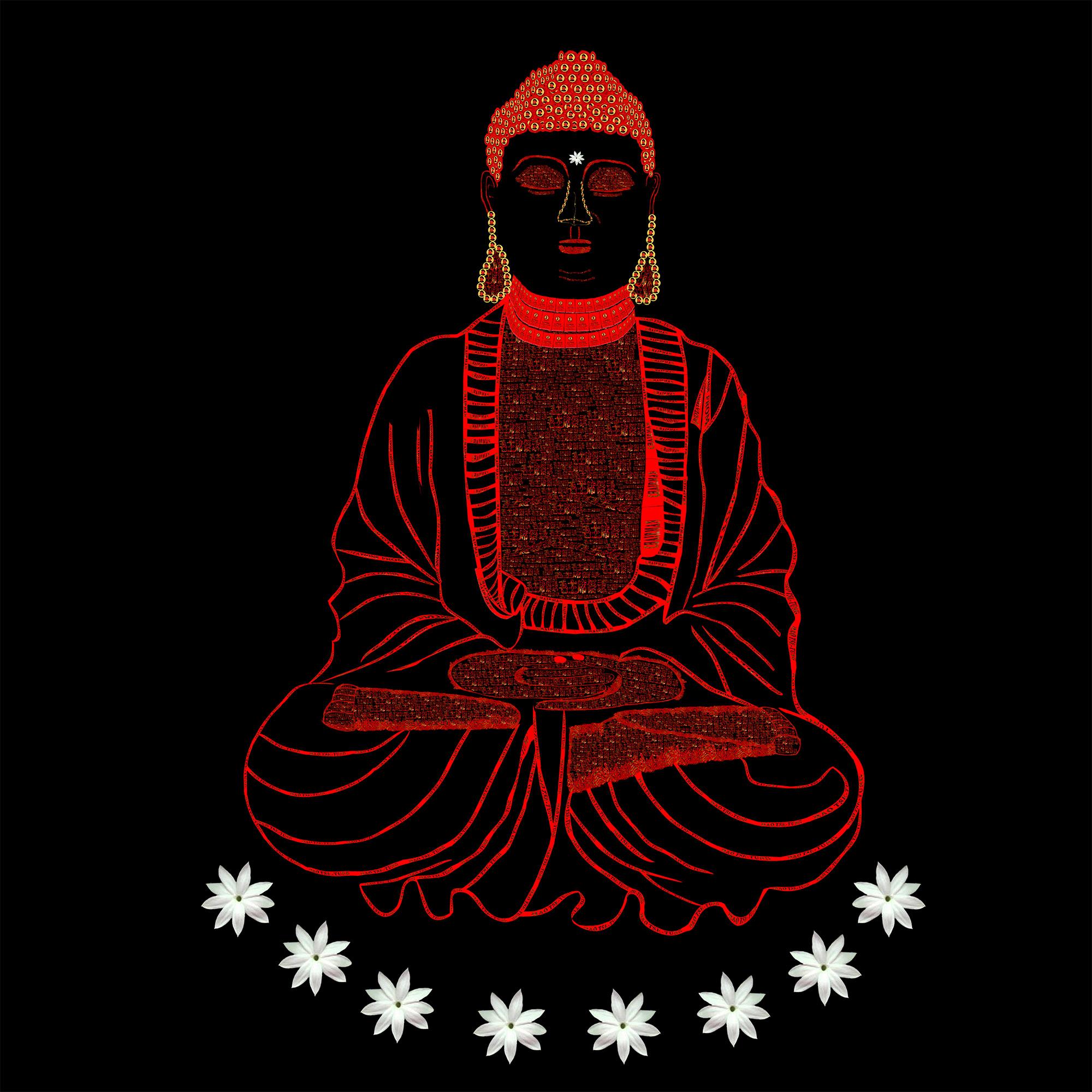 Red Book Buddha - Black