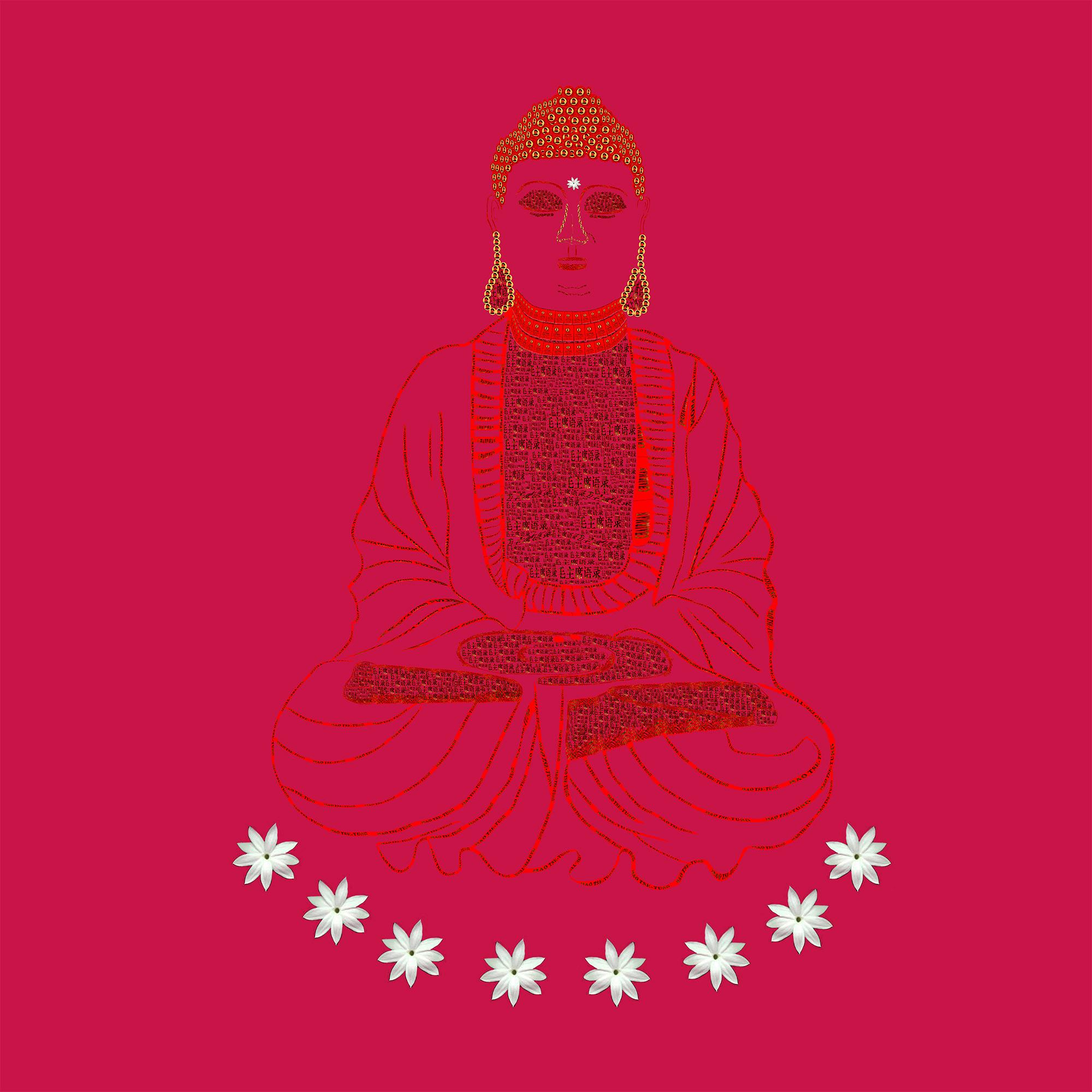 Red Book Buddha - Red