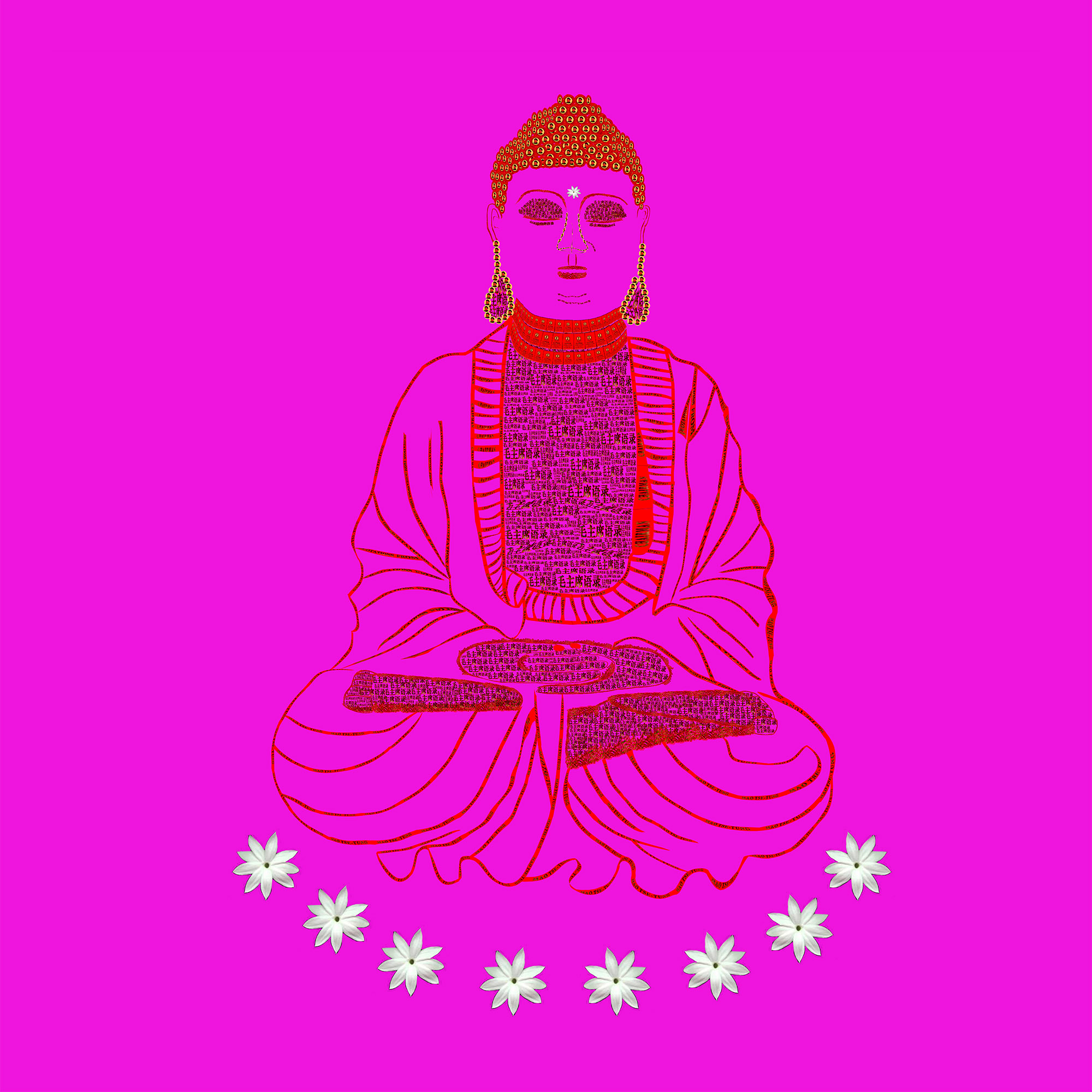 Red Book Buddha - Pink