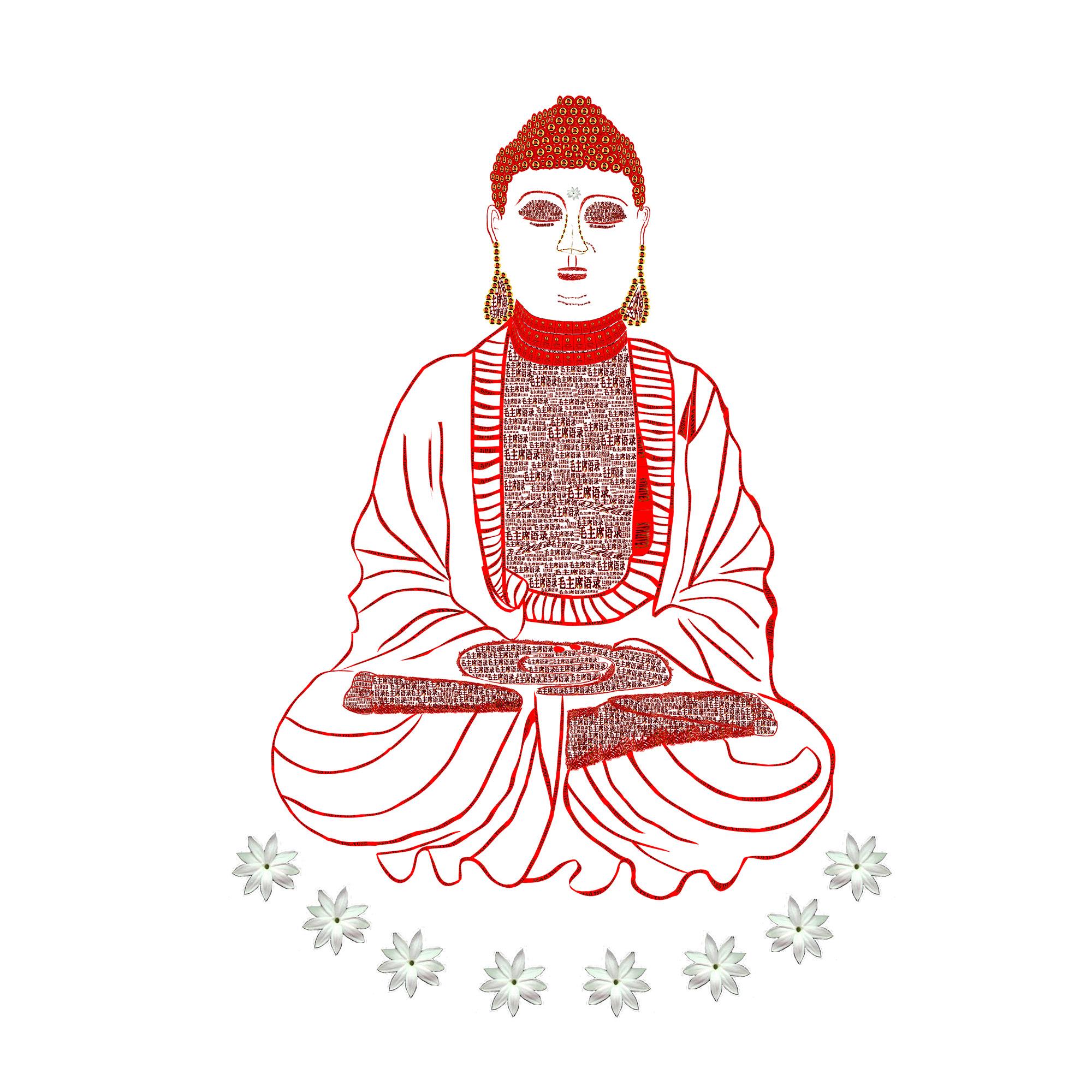 Red Book Buddha - White