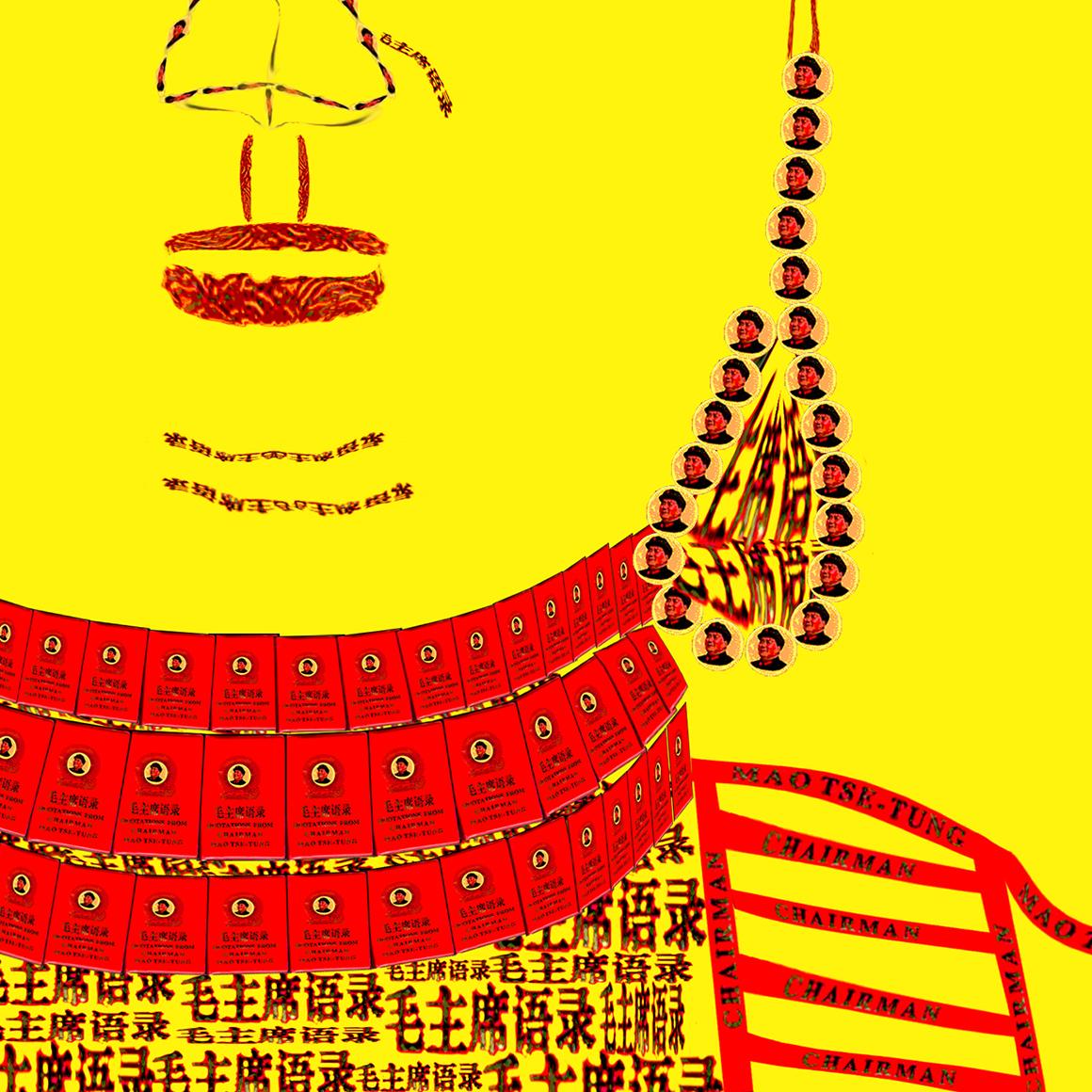 DETAIL: Red Book Buddha - Yellow