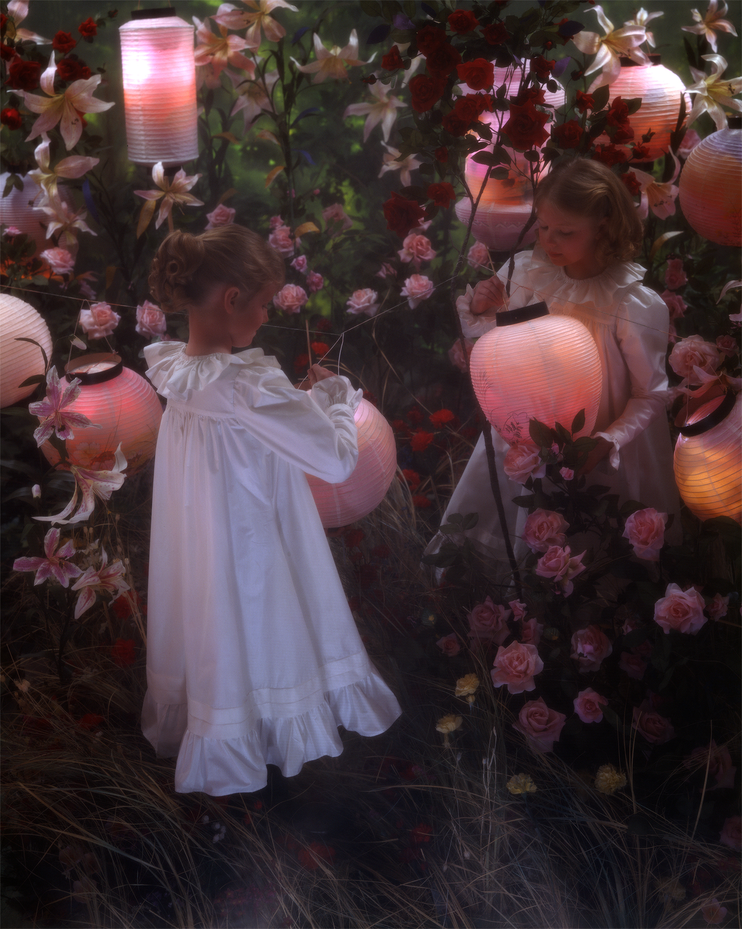 """After Sargent, Lily Lily Rose  Archival Print on Canvas 50 x 40"""" (custom sizes available)"""
