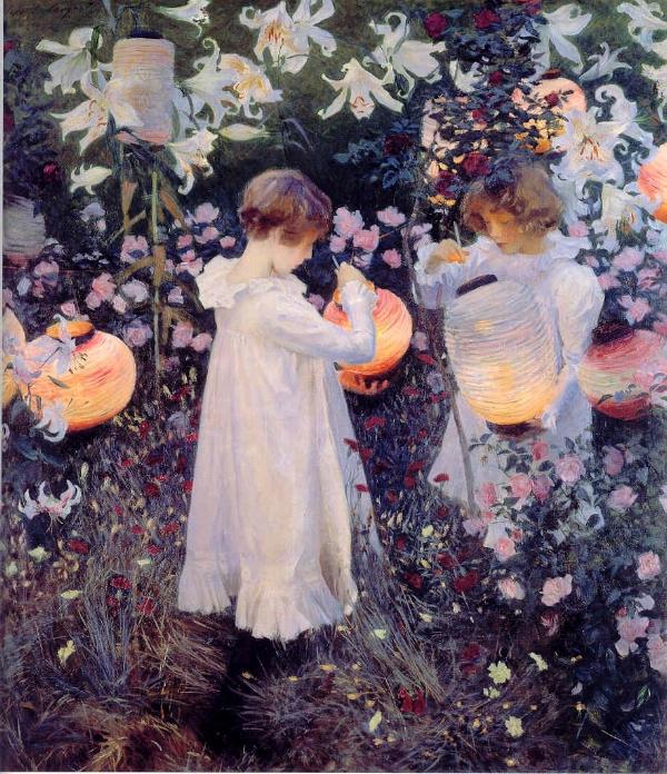 "Carnation, Lily, Lily, Rose  John Singer Sargent 1886 Oil on Canvas 68 x 60"""