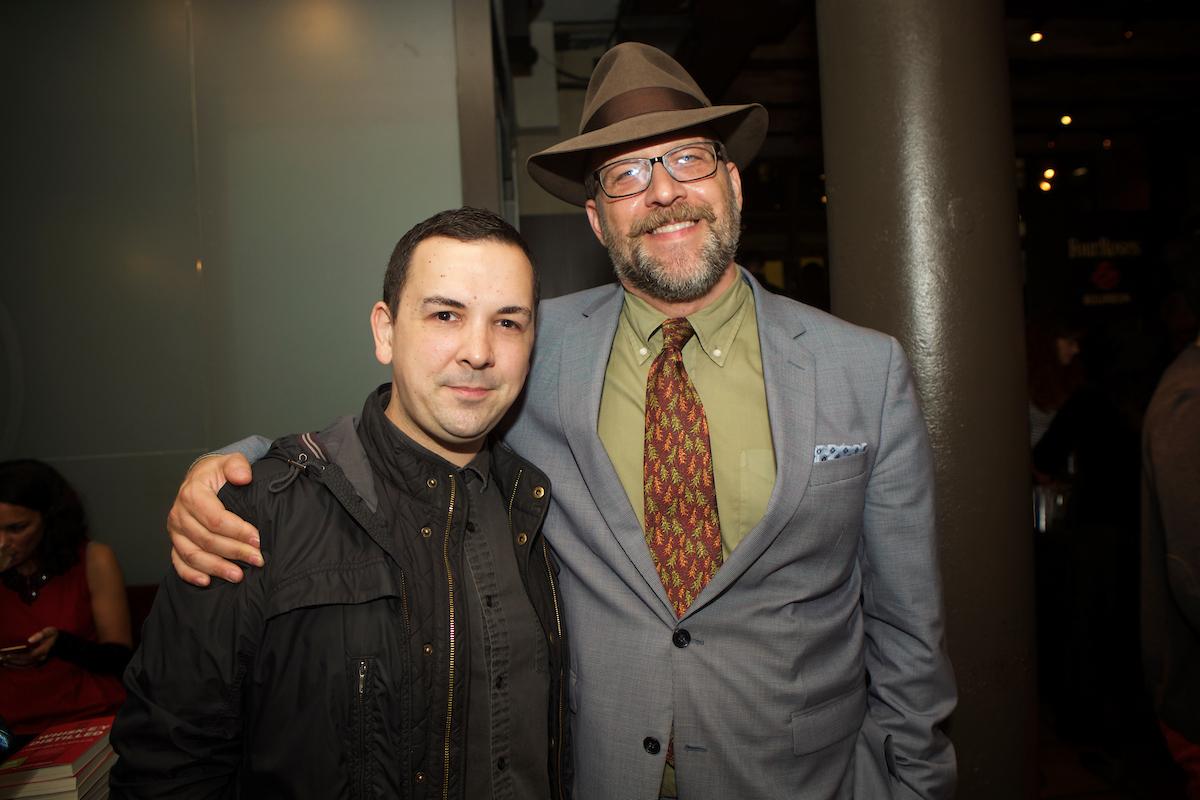 Brian Quinn of Taste Talks and author Robert Simonson. Photo by Clay Williams.
