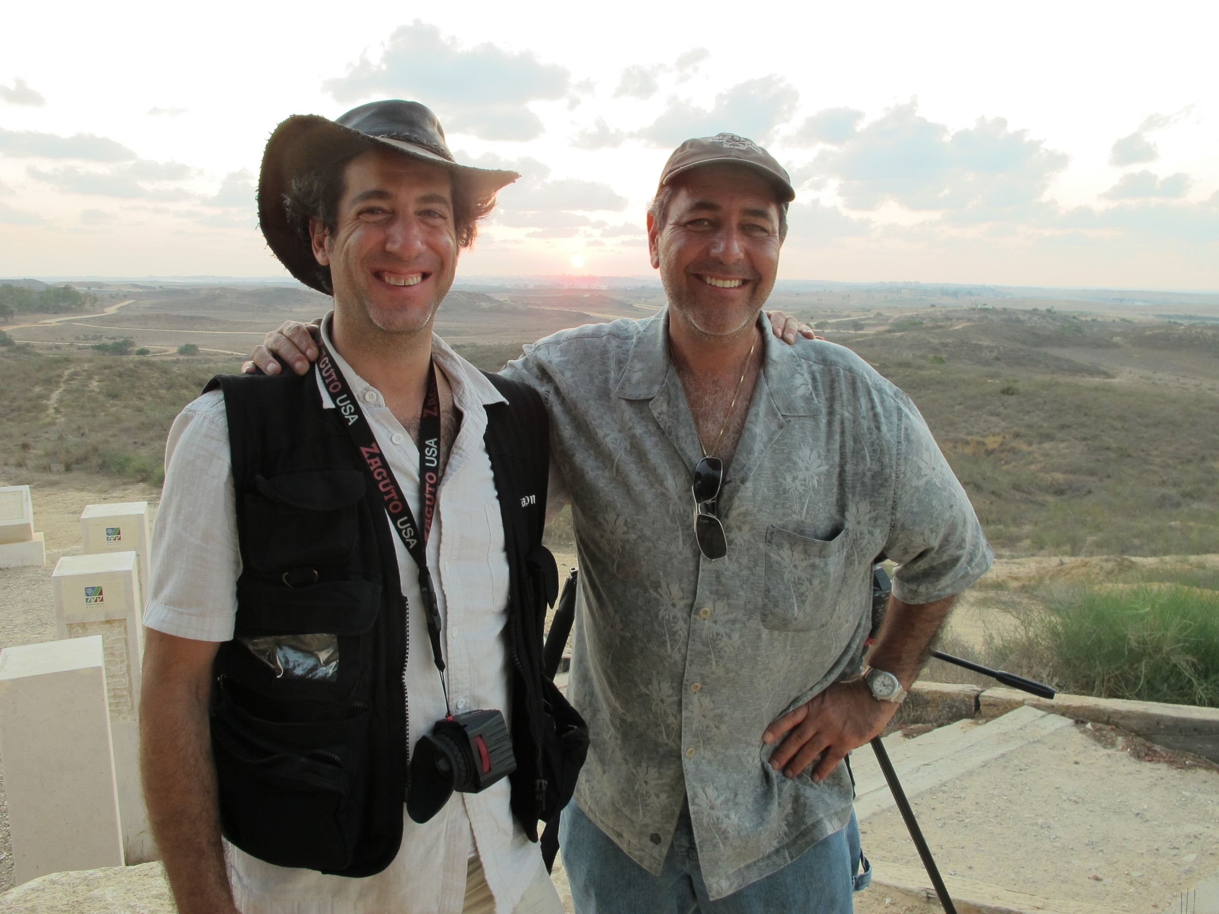 On assignment near West Bank with Newsweek photographer David Blumenfeld