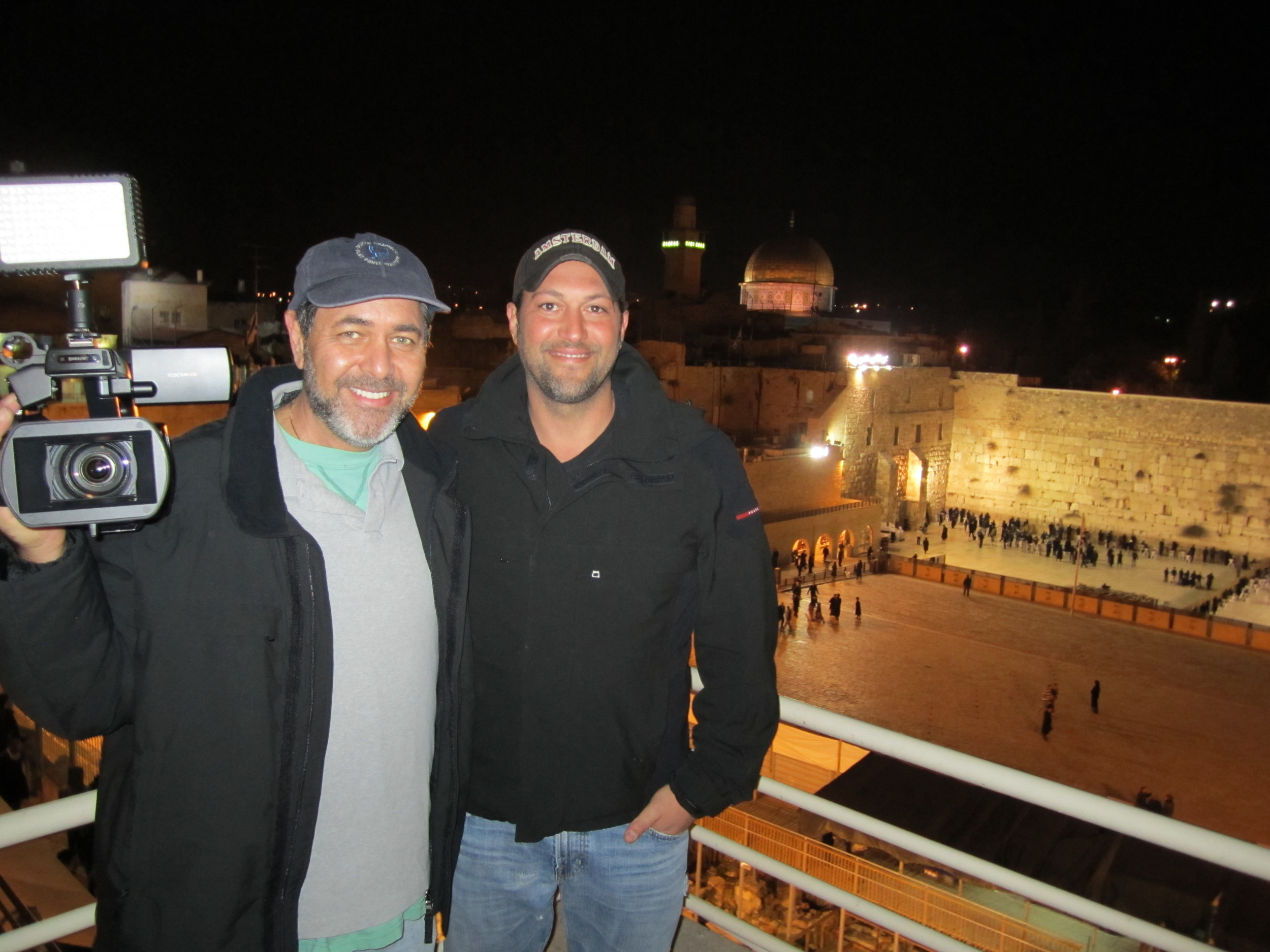 With friend and documentary subject Guma Aguiar, Western Wall Israel