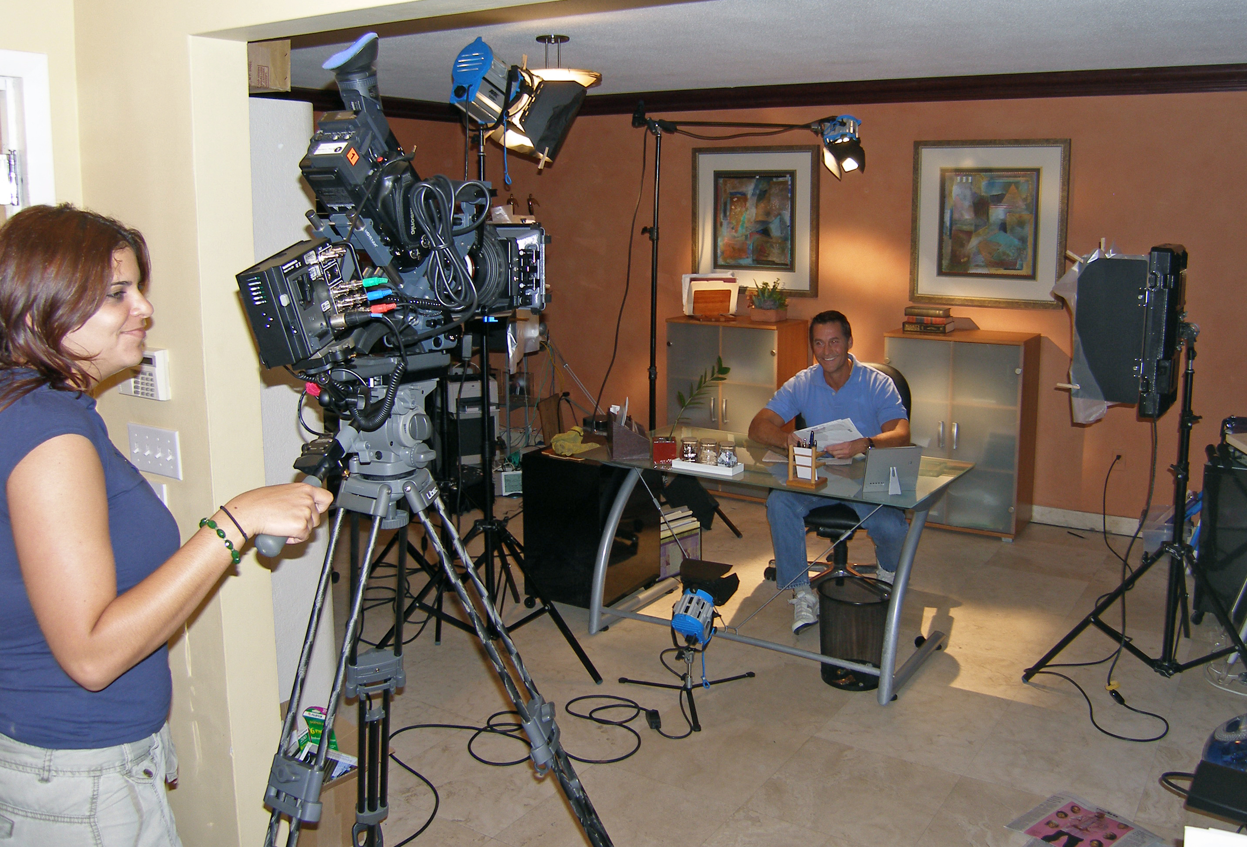 Cel phone Infomercial shoot, Bay Harbor Islands