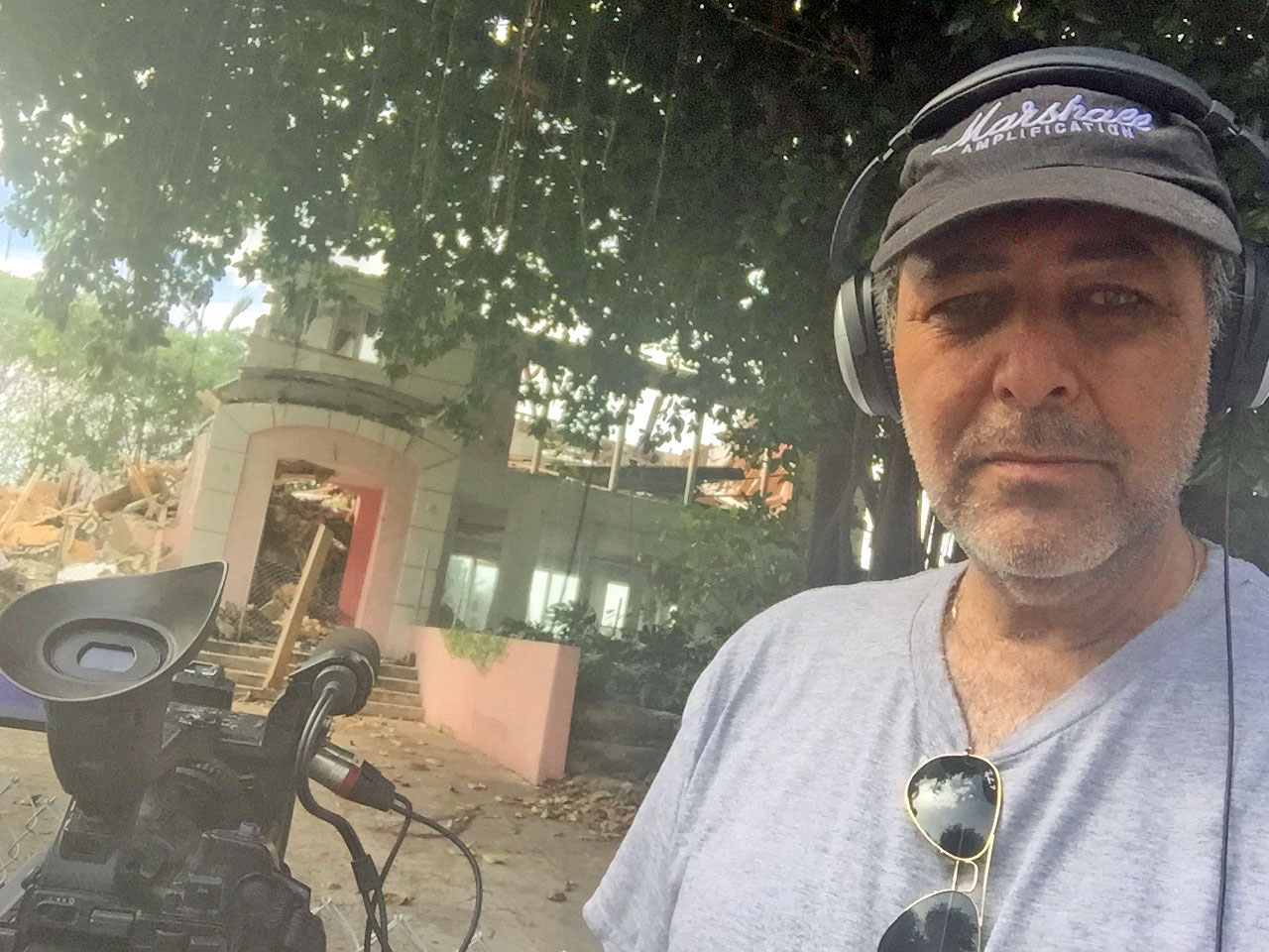 Producing and shooting a new reality television ahow about the demolition of drug kingpin Pablo Escobar's Miami mansion