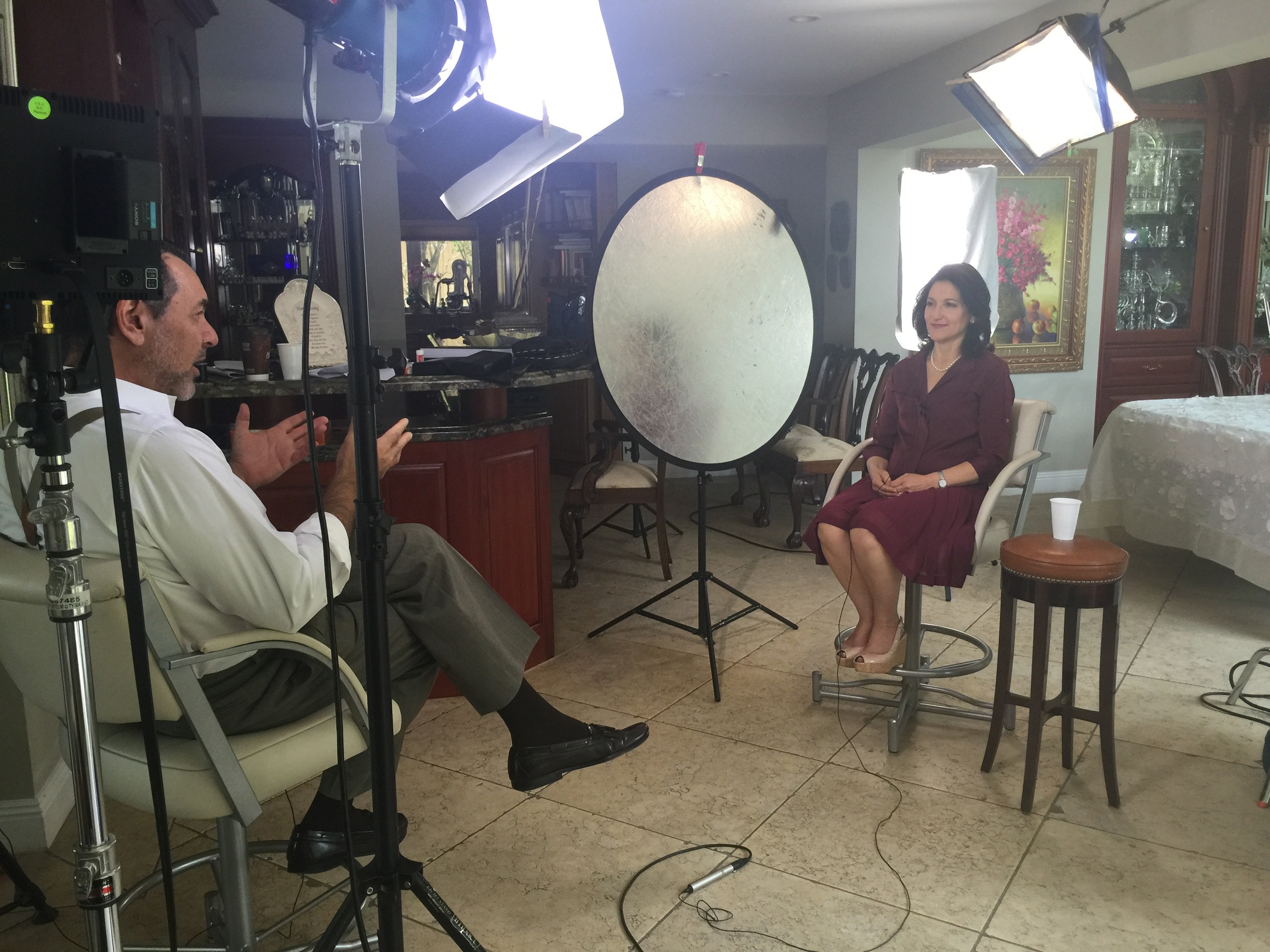 Interviewing Evelyn Katz for Historical Documentary