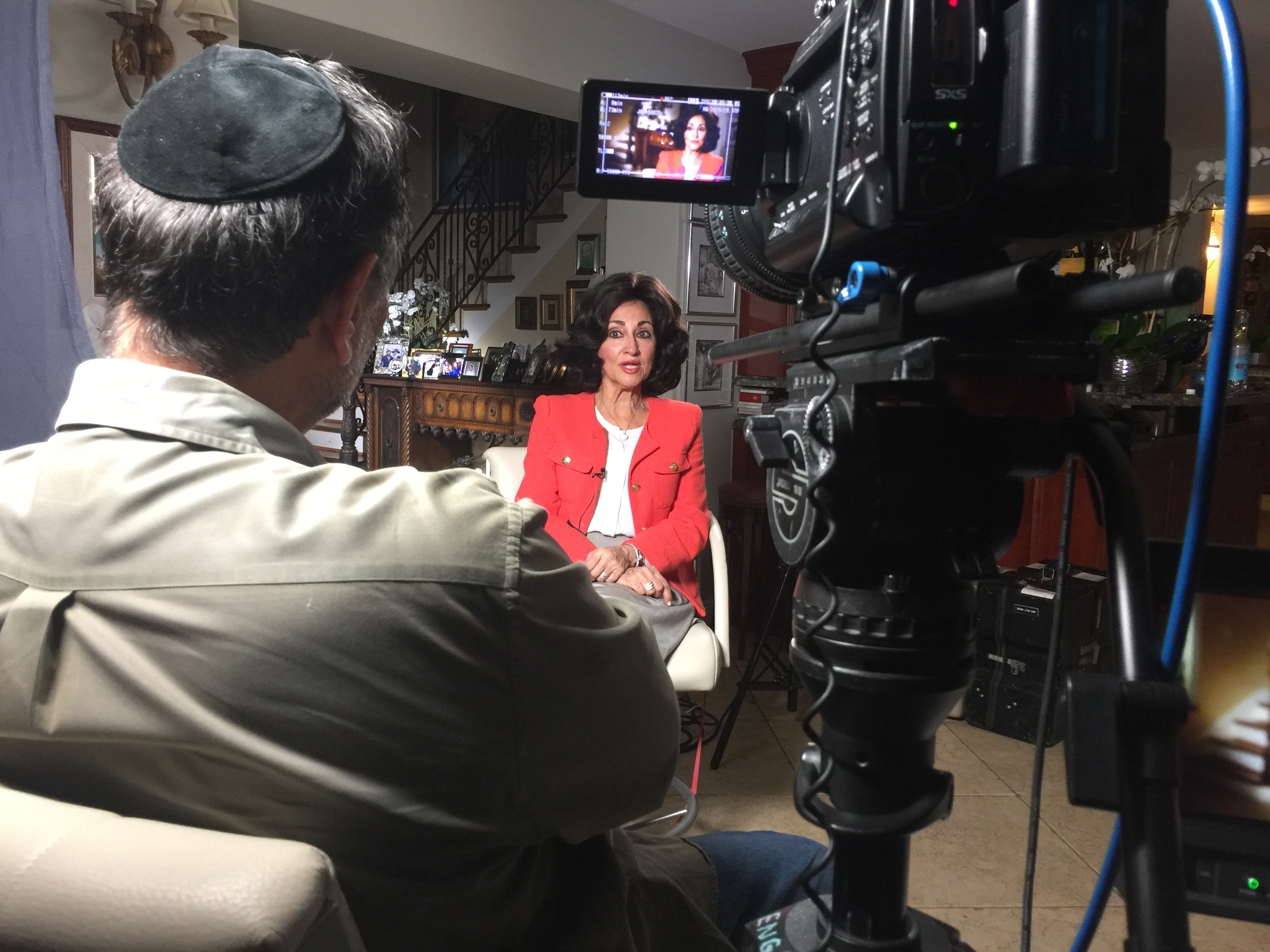 Interviewing Jewish educator Chani Lipskar for a Family Documentary