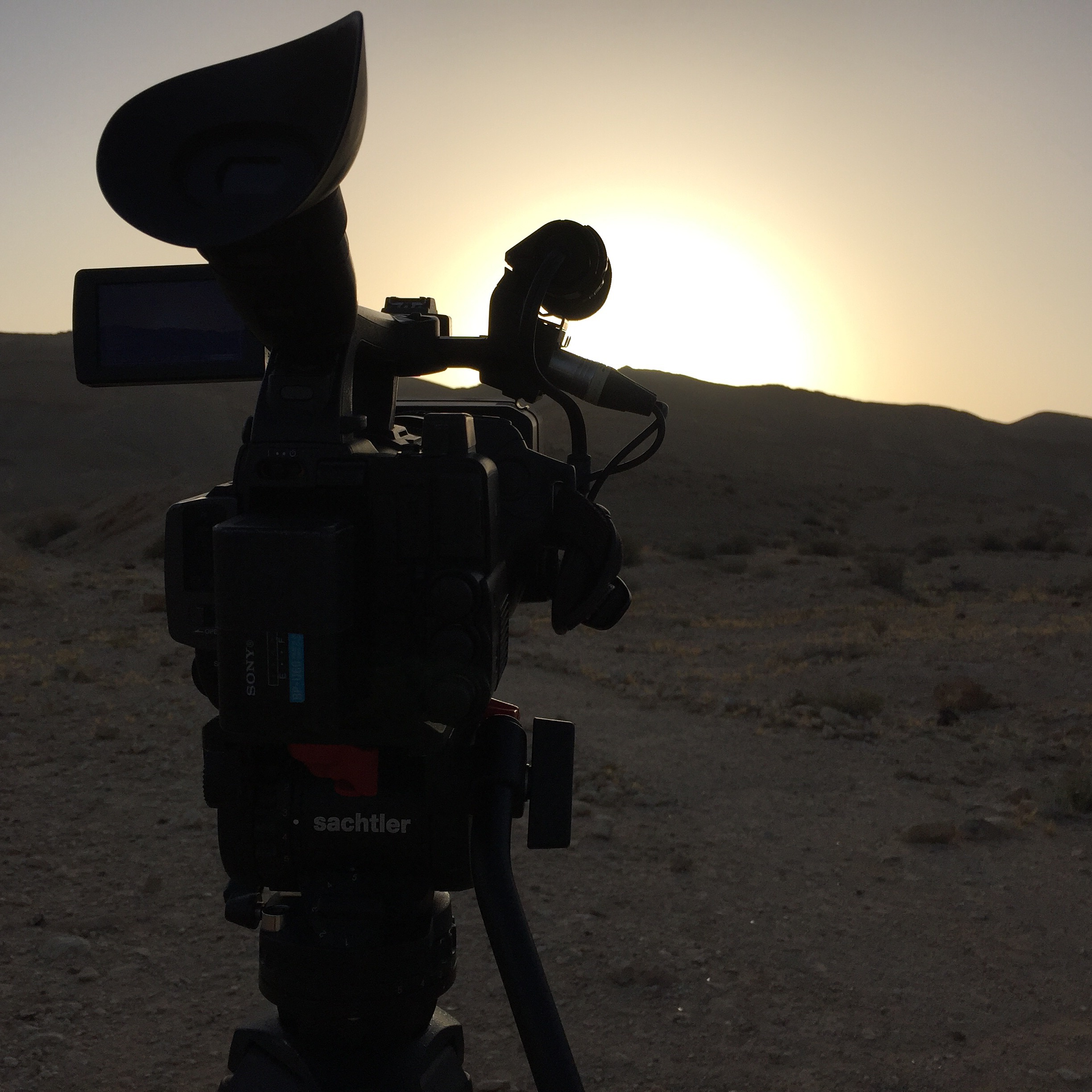 Filming Time Lapse Sequence in the Desert