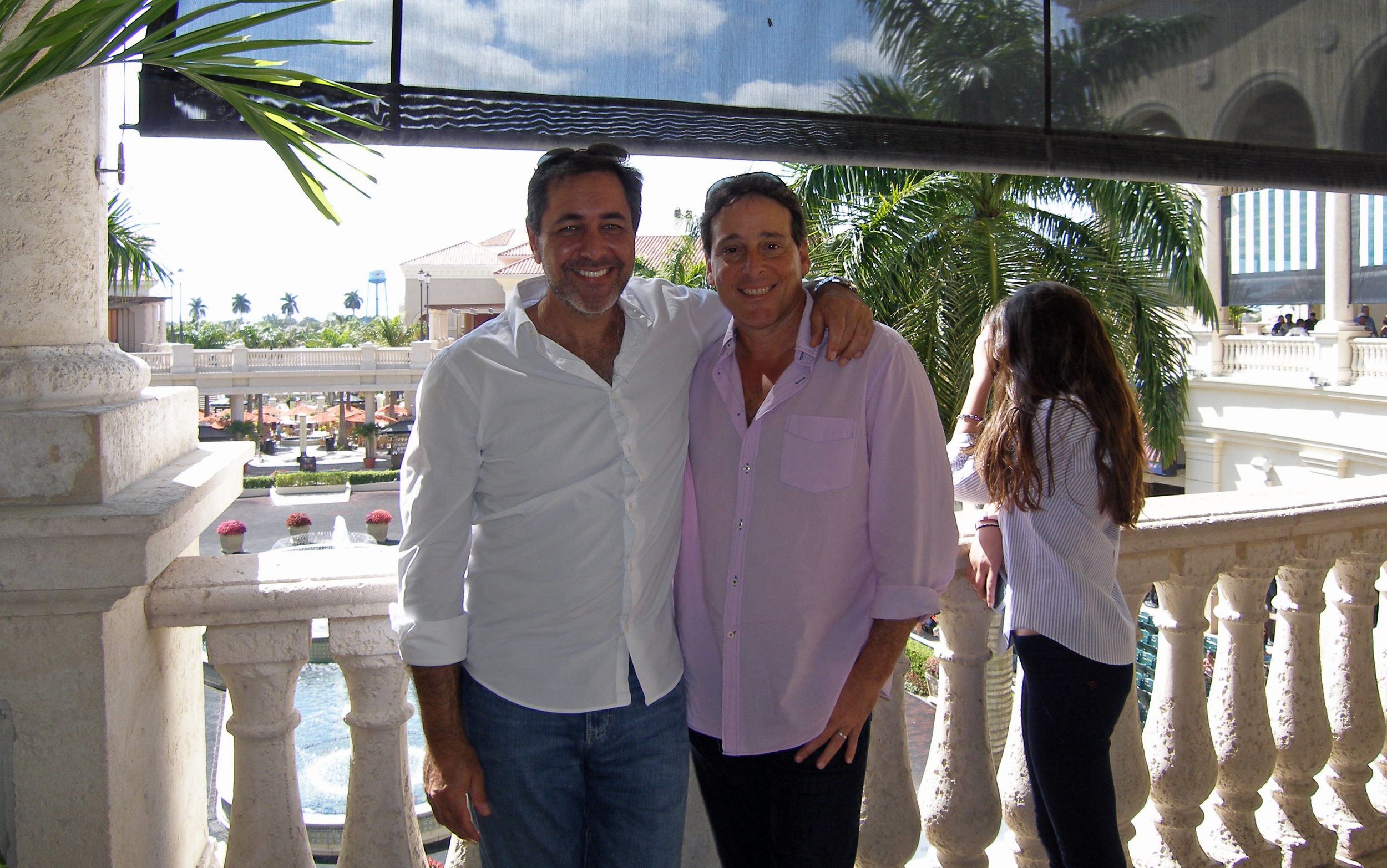 With high school buddy David Garfinkle, producer of Naked & Afraid on Discovery Channel and Blind Date