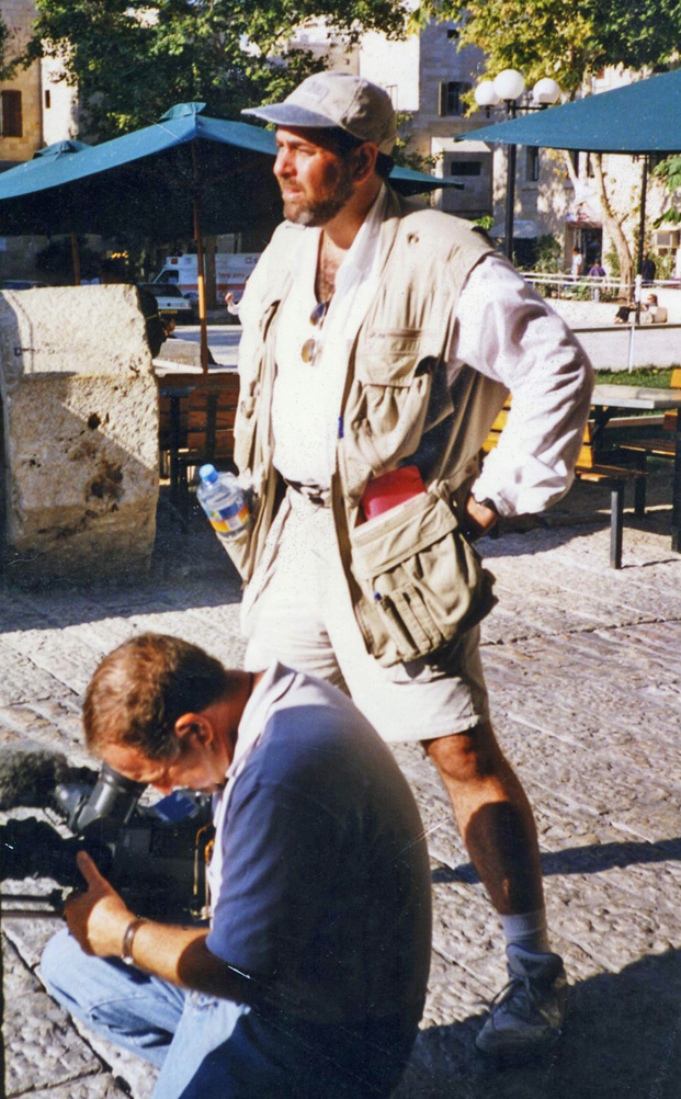 First international documentary, filming in Jerusalem, 1991