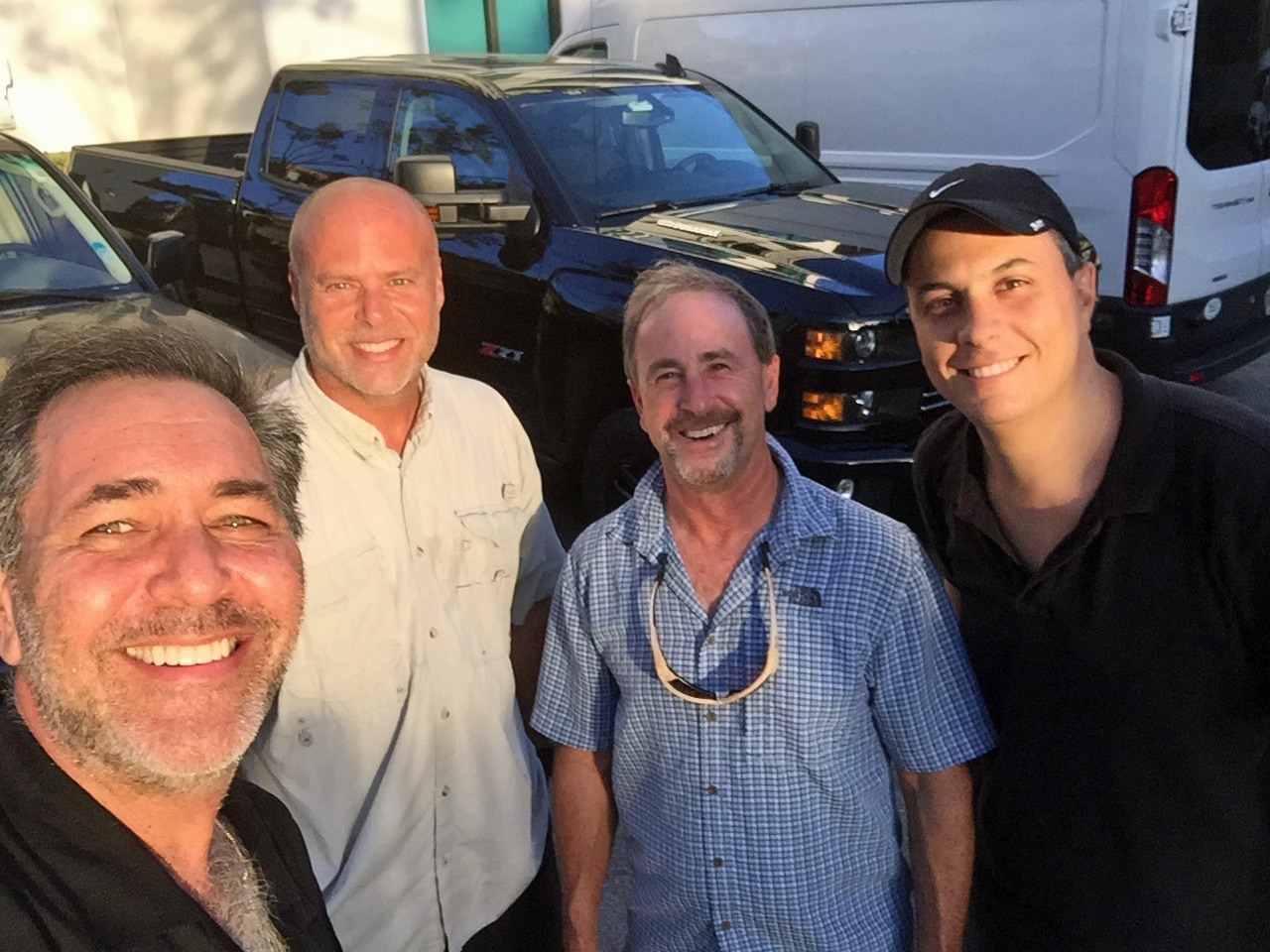 with longtime friends and colleagues Steve Weiss, Andy Cope and Michael Behar