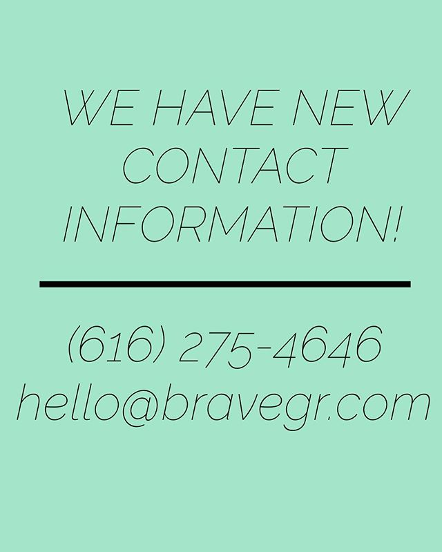 We had some issues with our last phone number and email, so we are starting fresh with both!