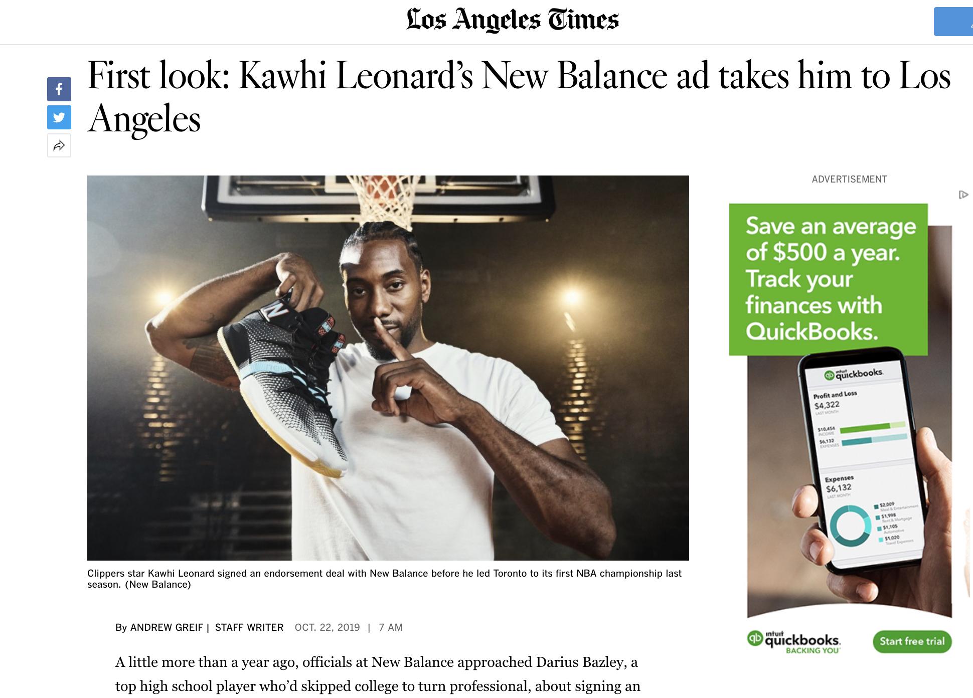 KAWHI x LA LAUNCH -