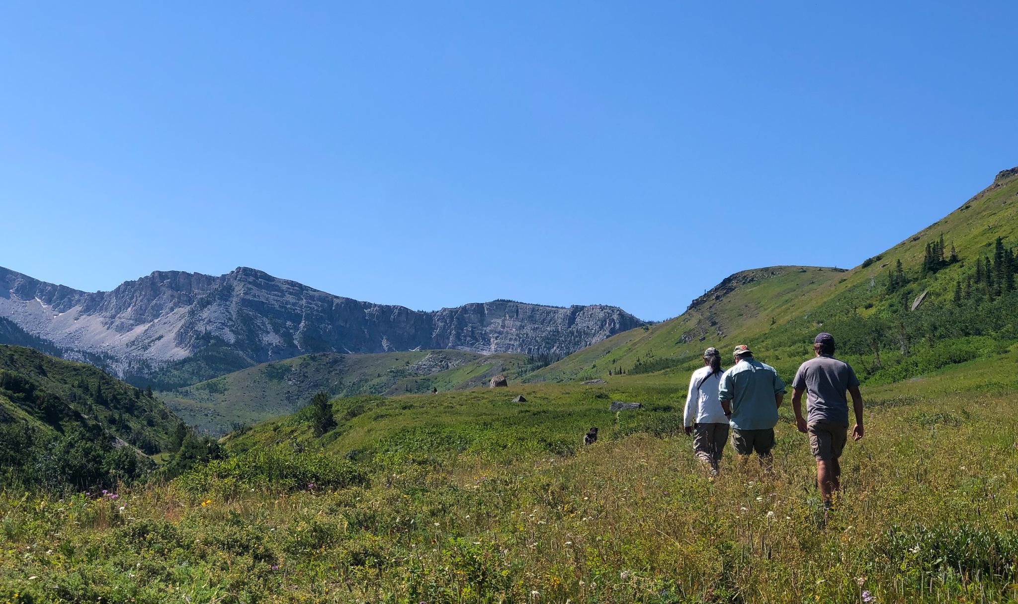Hikers on the trail to Kiyo Lake.jpg