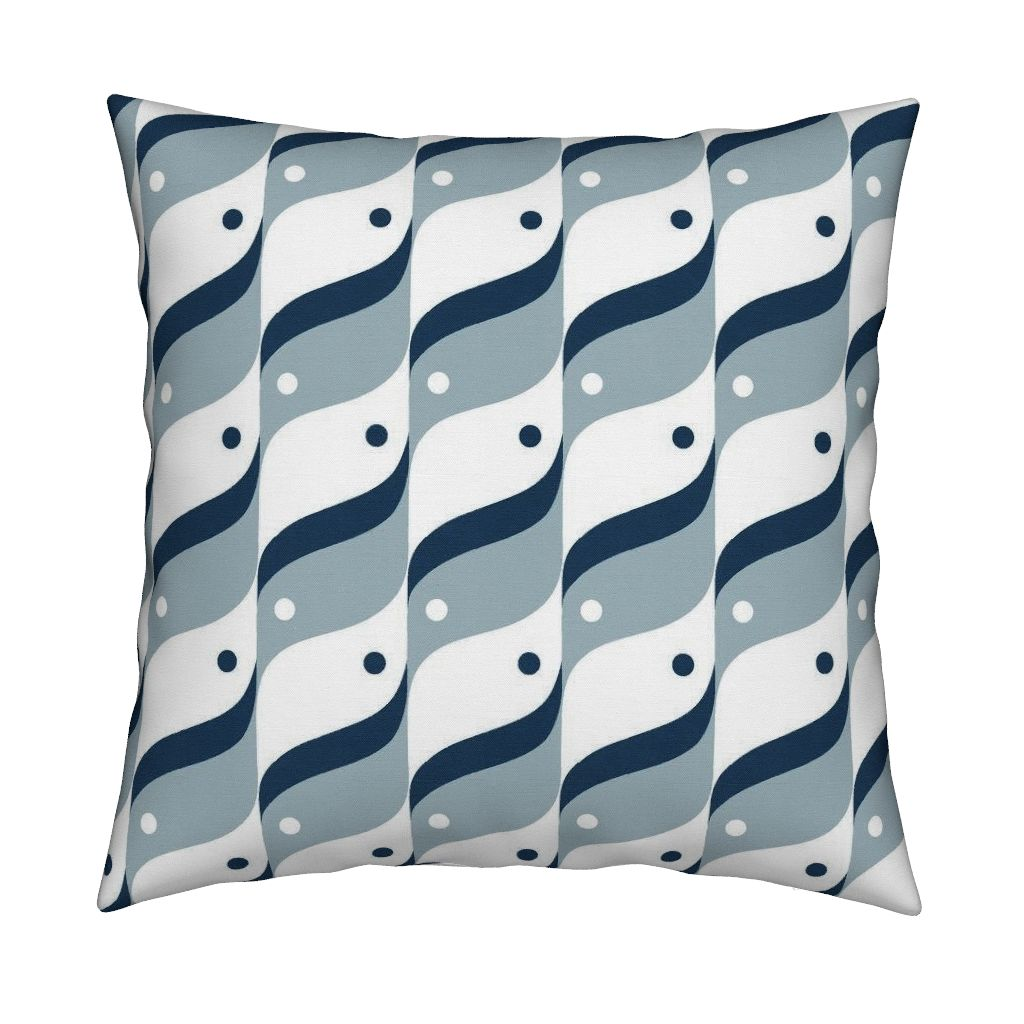 Catalan pillow featuring Bird by hitomikimura