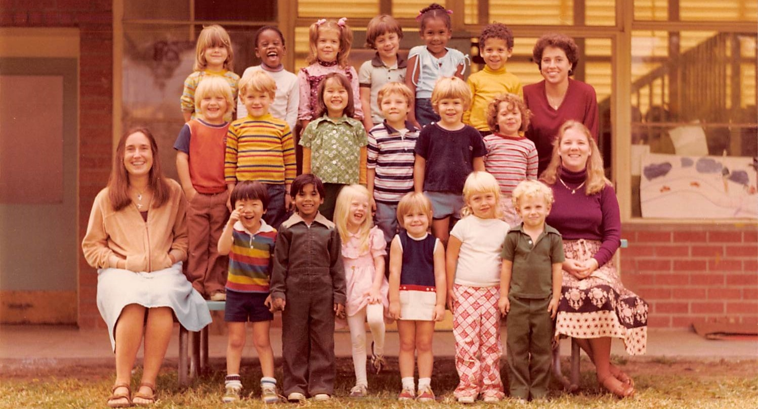 The Flying Squirrel group of 1980. Your support enables the CEC to continue to provide research-based care with an innovative focus on outdoor learning for generations to come.