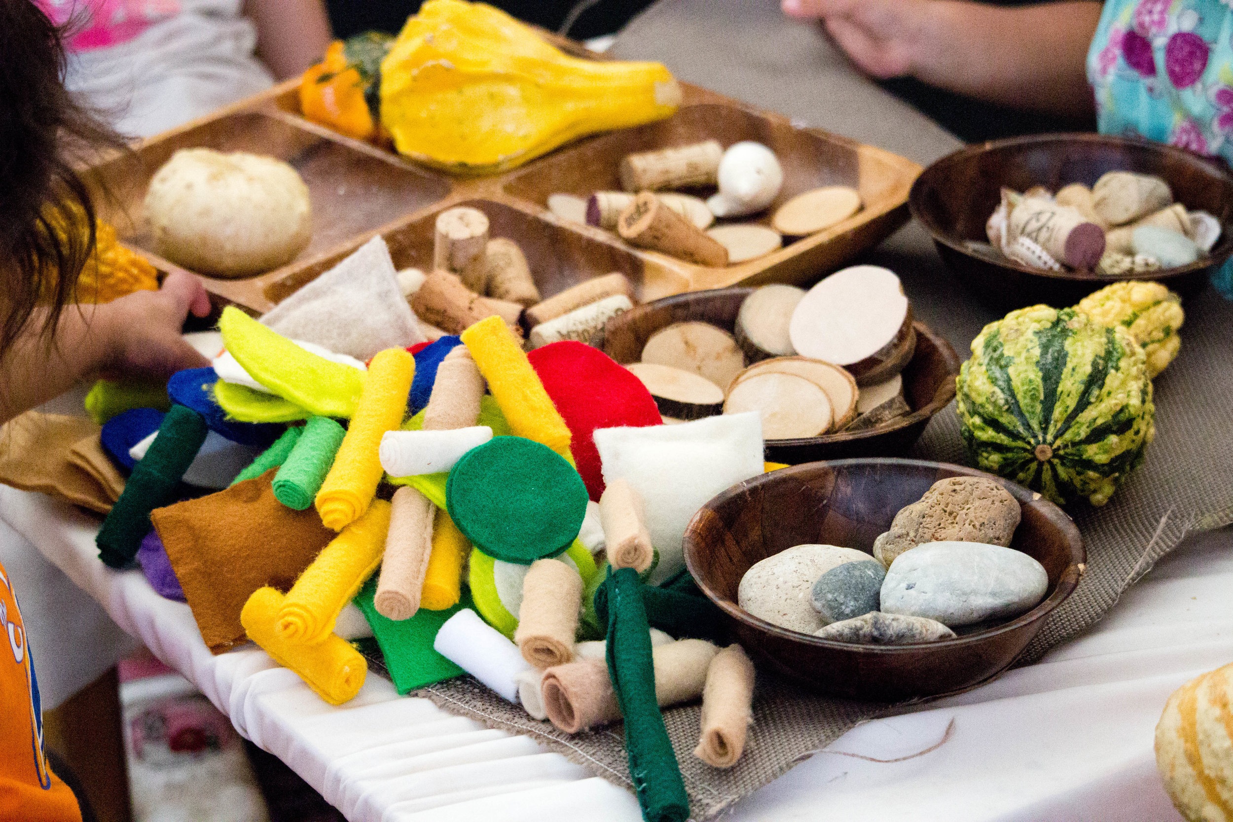 Loose parts and open-ended materials at the CEC.