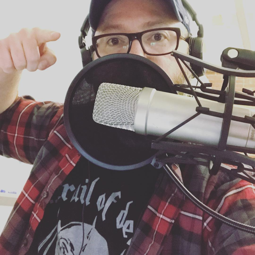 podcasting selfie