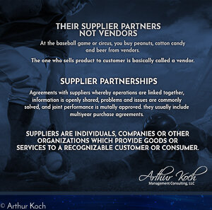 Vendors or Supplier Partnerships?