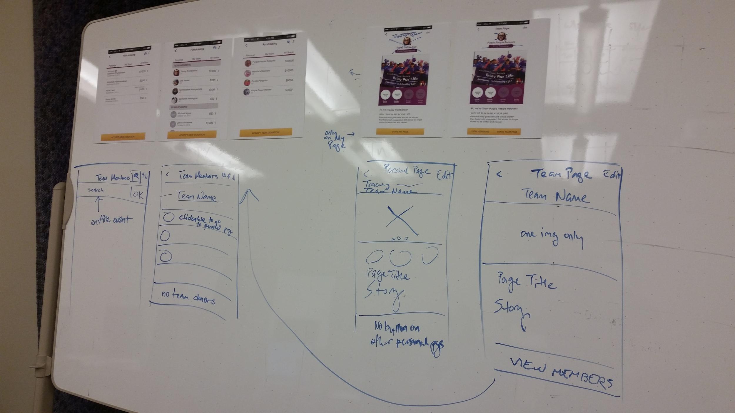 Team and Team Member Screens