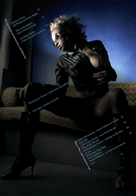 Zealot Table of Contents 1 - Alternative Pinup
