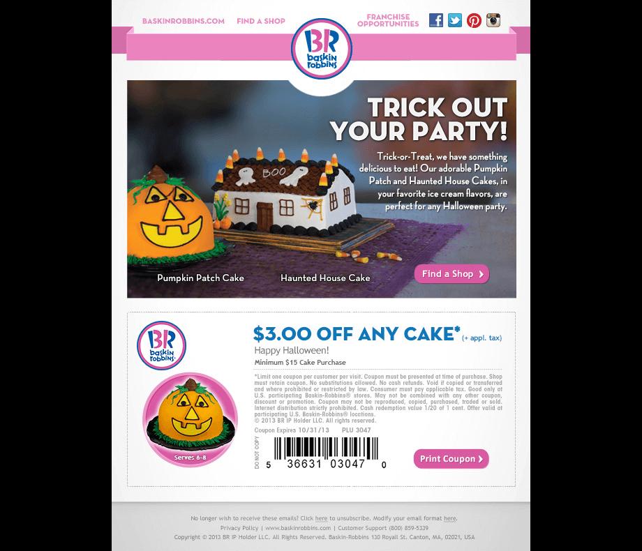 Baskin-Robbins Fall Email