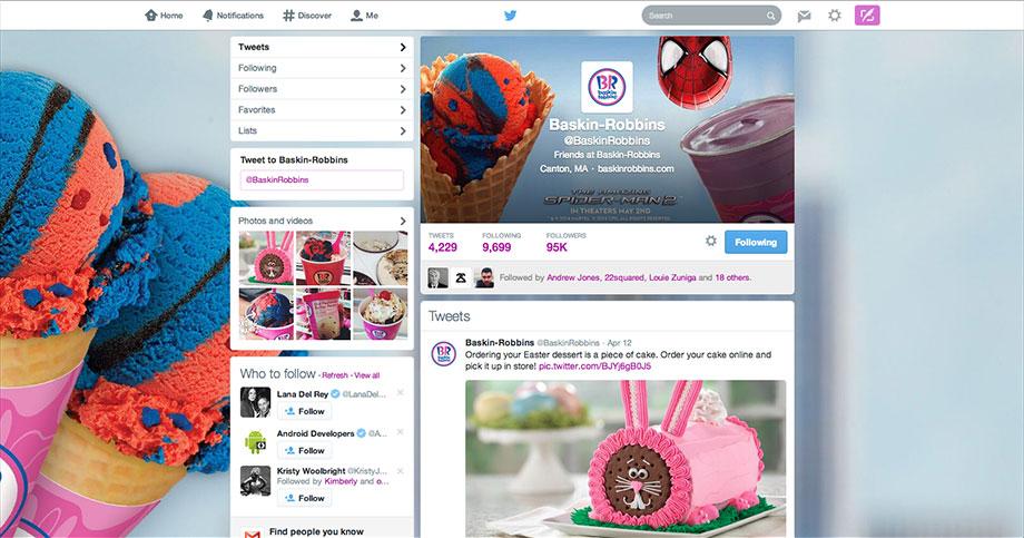 Baskin-Robbins Twitter Profile