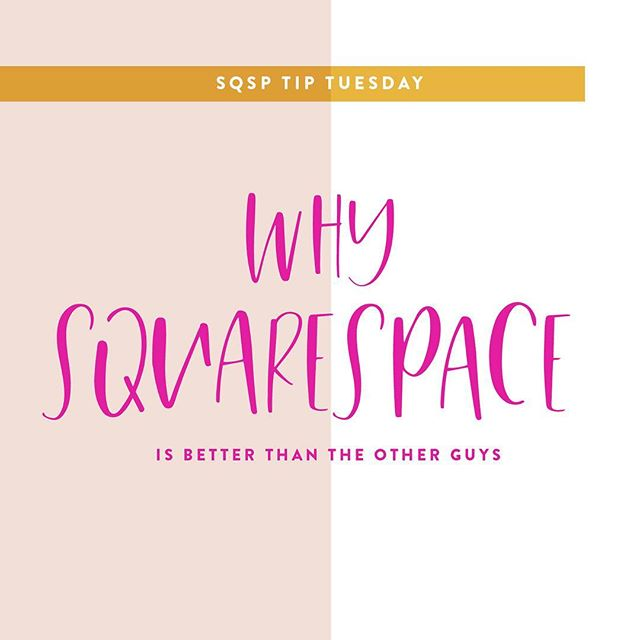 If you couldn't tell already, I am a huge Squarespace fan 💕 I have templates for @squarespace users and all of my custom sites have been created on that platform. . Here are some reasons why Squarespace will always be my top pick! . EASY TO USE 👩🏼💻 No matter your web design skill level, you can navigate this platform pretty easily. No crazy coding needed, although if you are into that, there is that option. . NO PLUGINS NEEDED 🙅🏼♀️ Holy moly, this one was a big one for me. No need to keep up with theme updates or refresh plugins with this platform. While most people may be bummed out that plugins aren't an option, this actually is a big plus for me. No need to worry about upkeep and updating overtime with plugins. . YOU CAN GET FANCY WITH IT 💃 If you want something super custom and one of a kind with a ready to use template on Squarespace, you can. Custom coding is pretty easy to navigate if you know your stuff or have some time to kill with a Google search. . Have you tried #Squarespace before?!