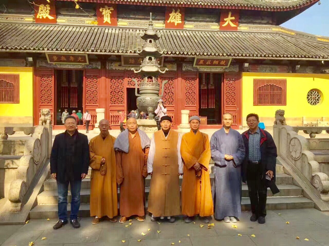 Classmates of Ling Yan Buddhist University met after more than 30 years during Puja.